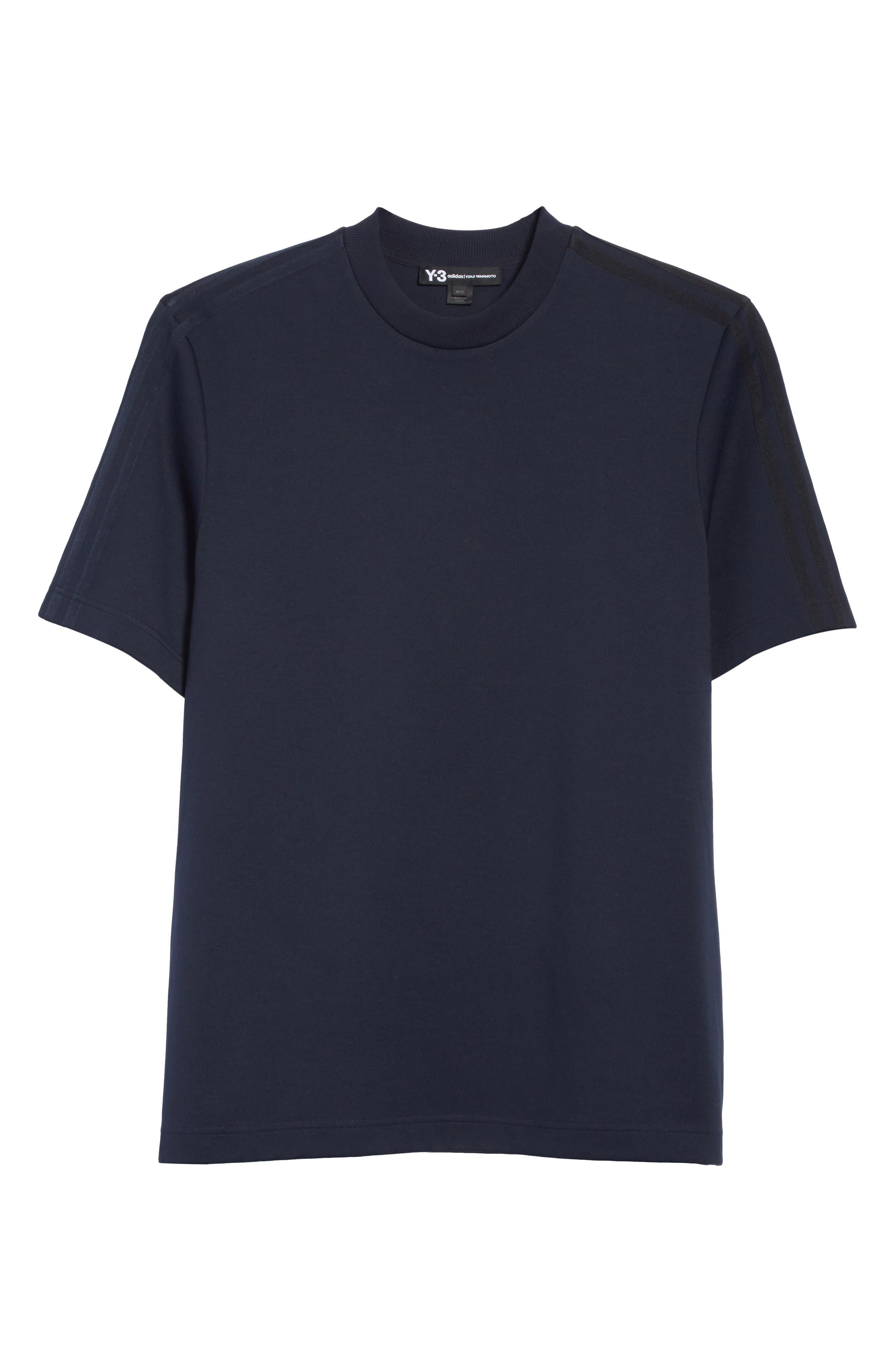 x adidas Tonal Stripe Crewneck T-Shirt,                             Alternate thumbnail 6, color,                             Navy