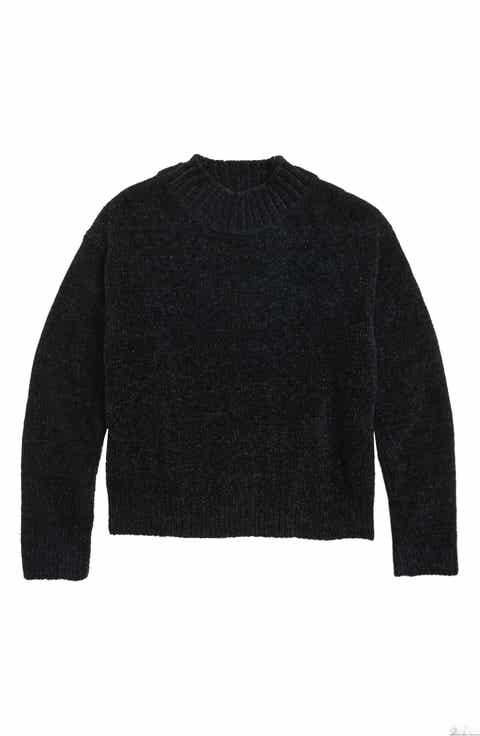 Girls' Black Sweaters: Cardigan, Knit & Crewneck | Nordstrom