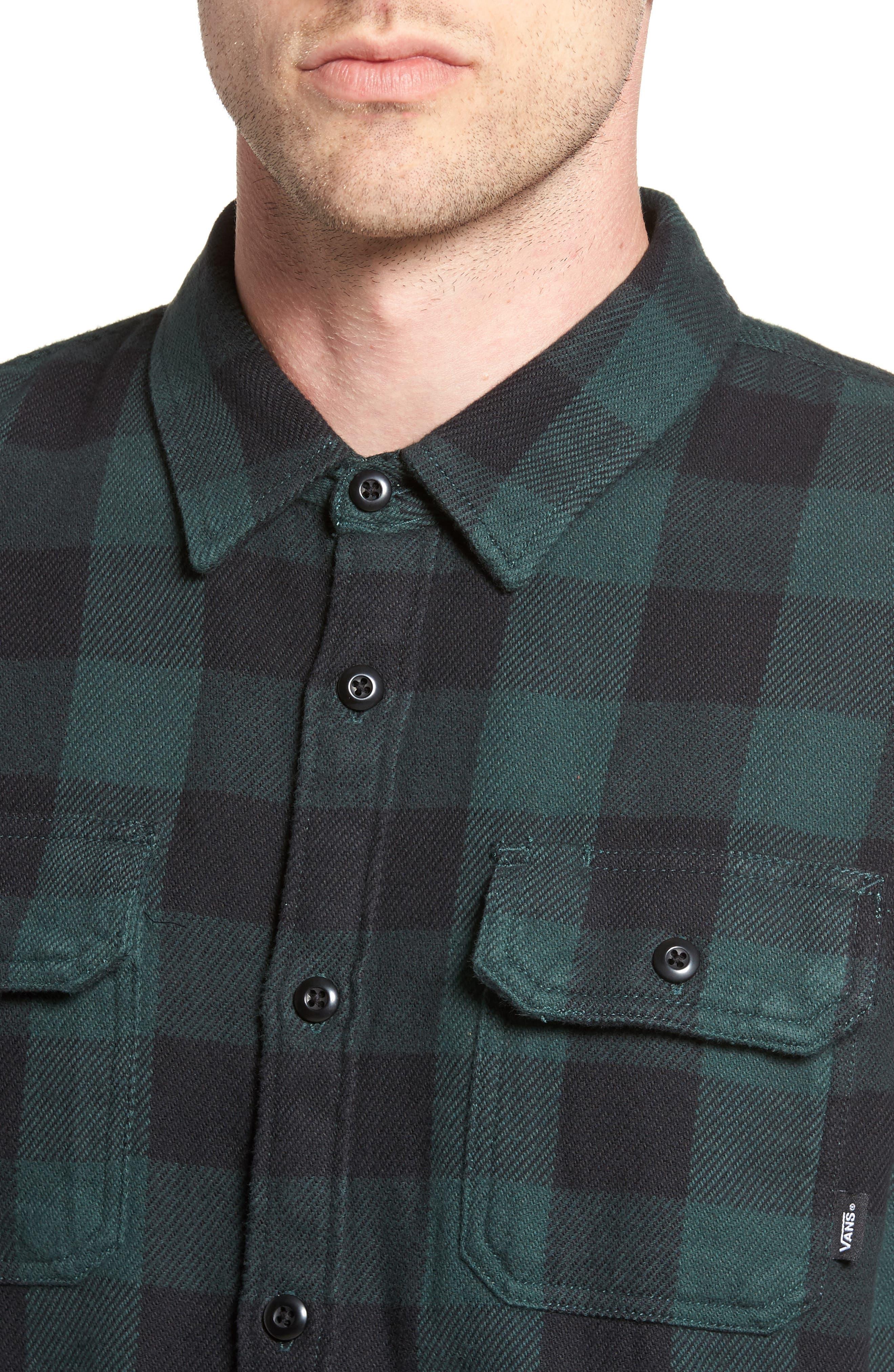 Wisner Plaid Shirt,                             Alternate thumbnail 4, color,                             Vans Scarab