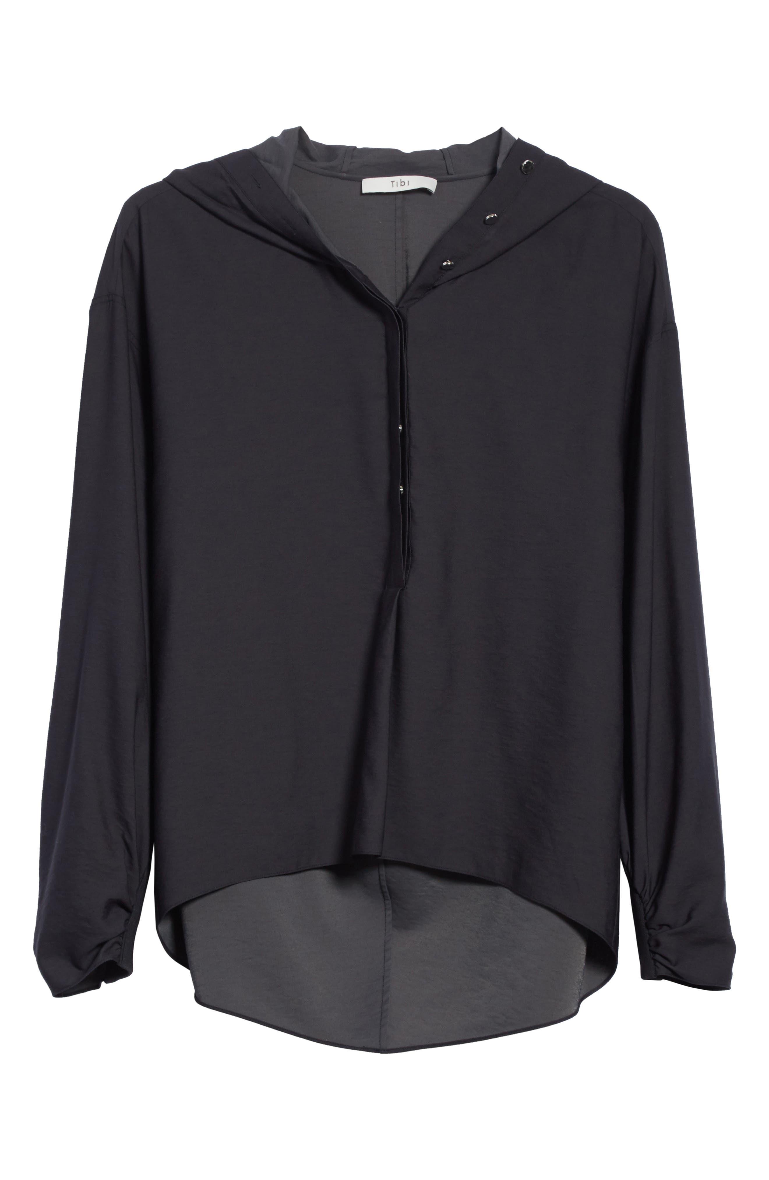 Hooded Tunic,                             Alternate thumbnail 6, color,                             Black