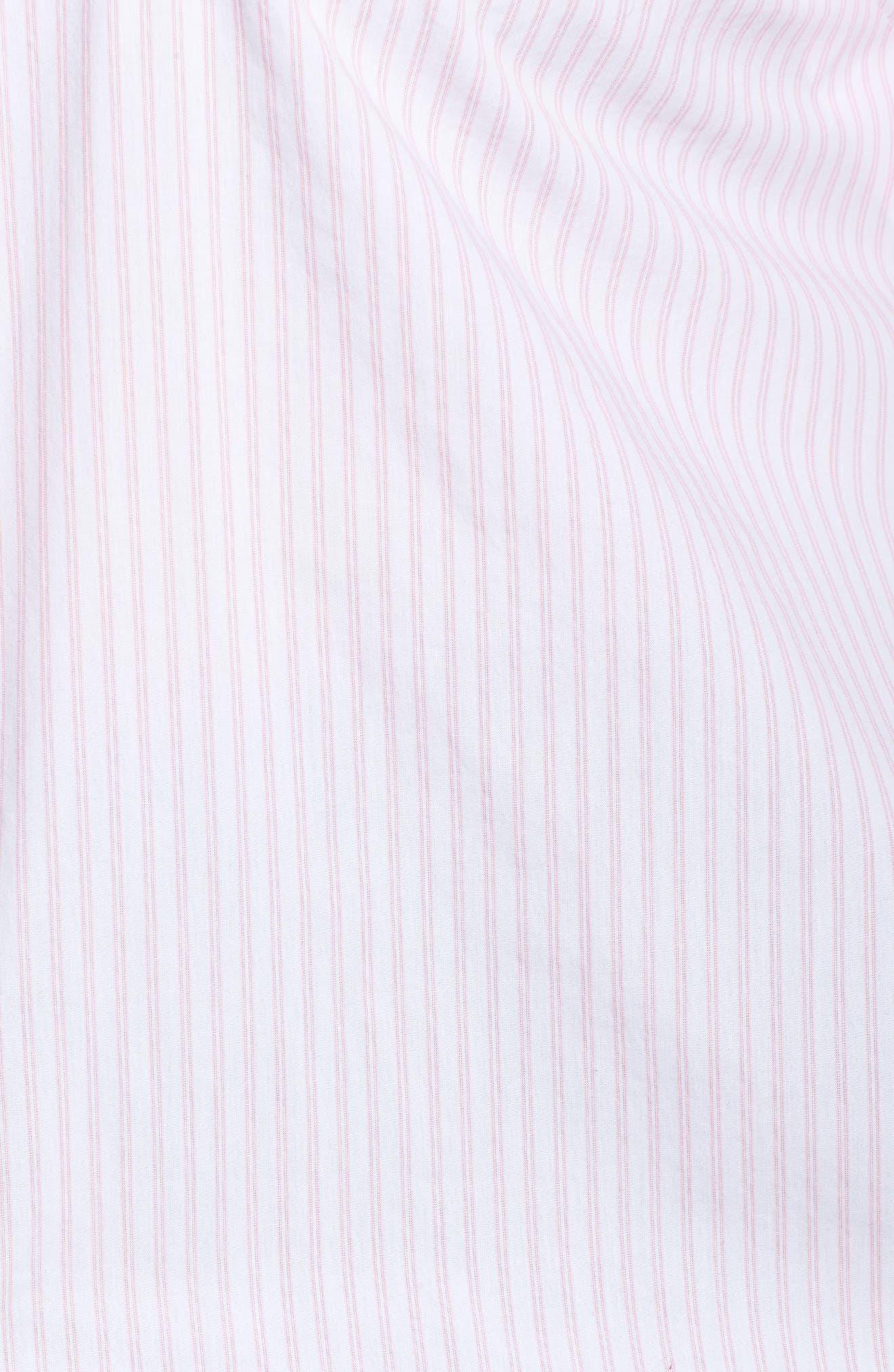 Alternate Image 5  - Caslon® Stripe Button Front Shirt (Plus Size)