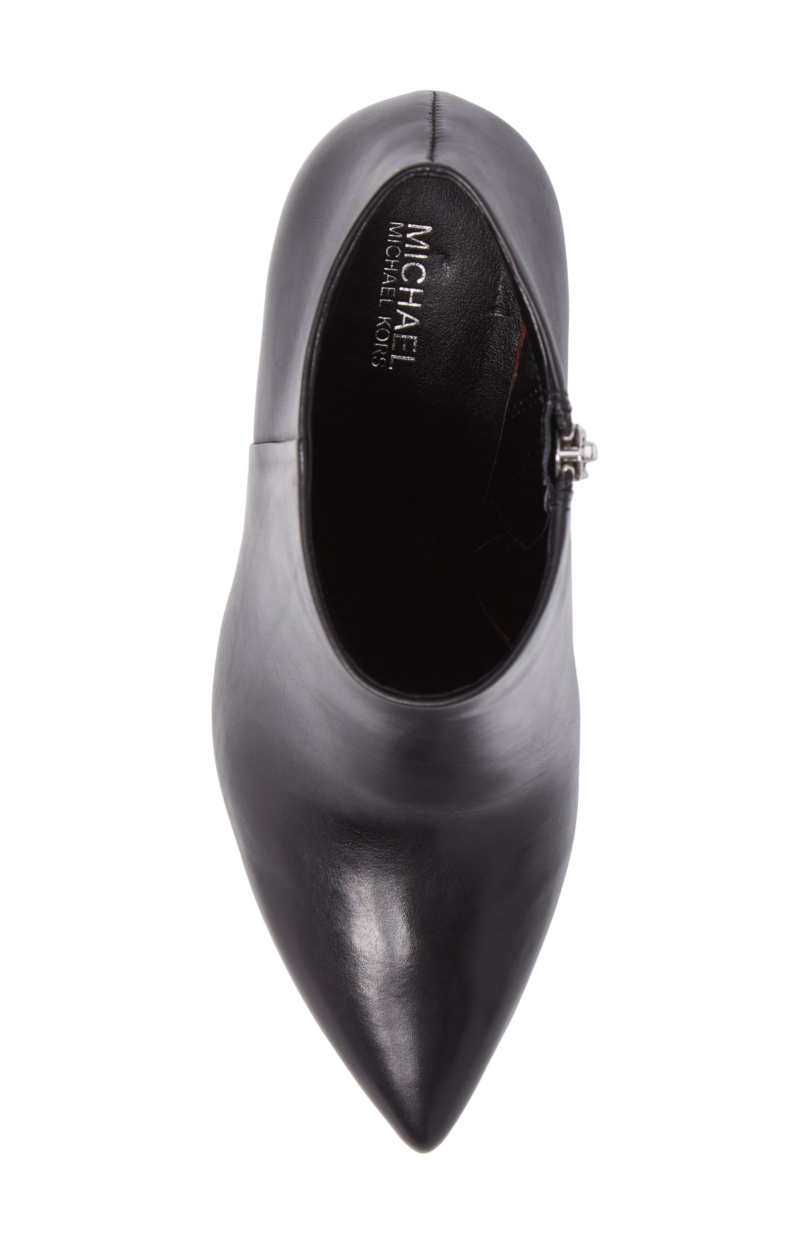Paloma Bootie,                             Alternate thumbnail 5, color,                             Black Calf Leather