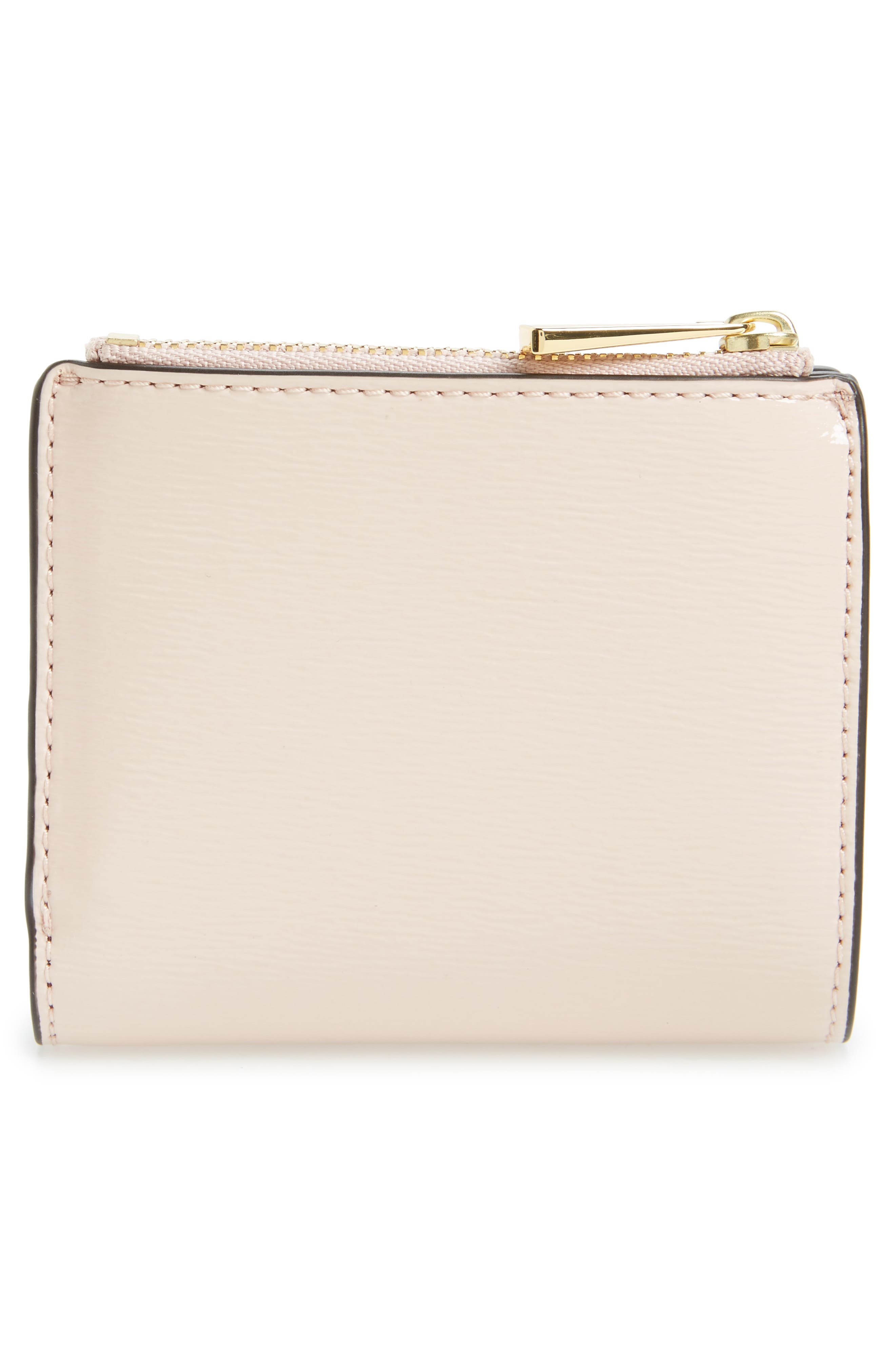 Alternate Image 4  - Tory Burch Mini Robinson Wallet Patent Leather Bifold Wallet