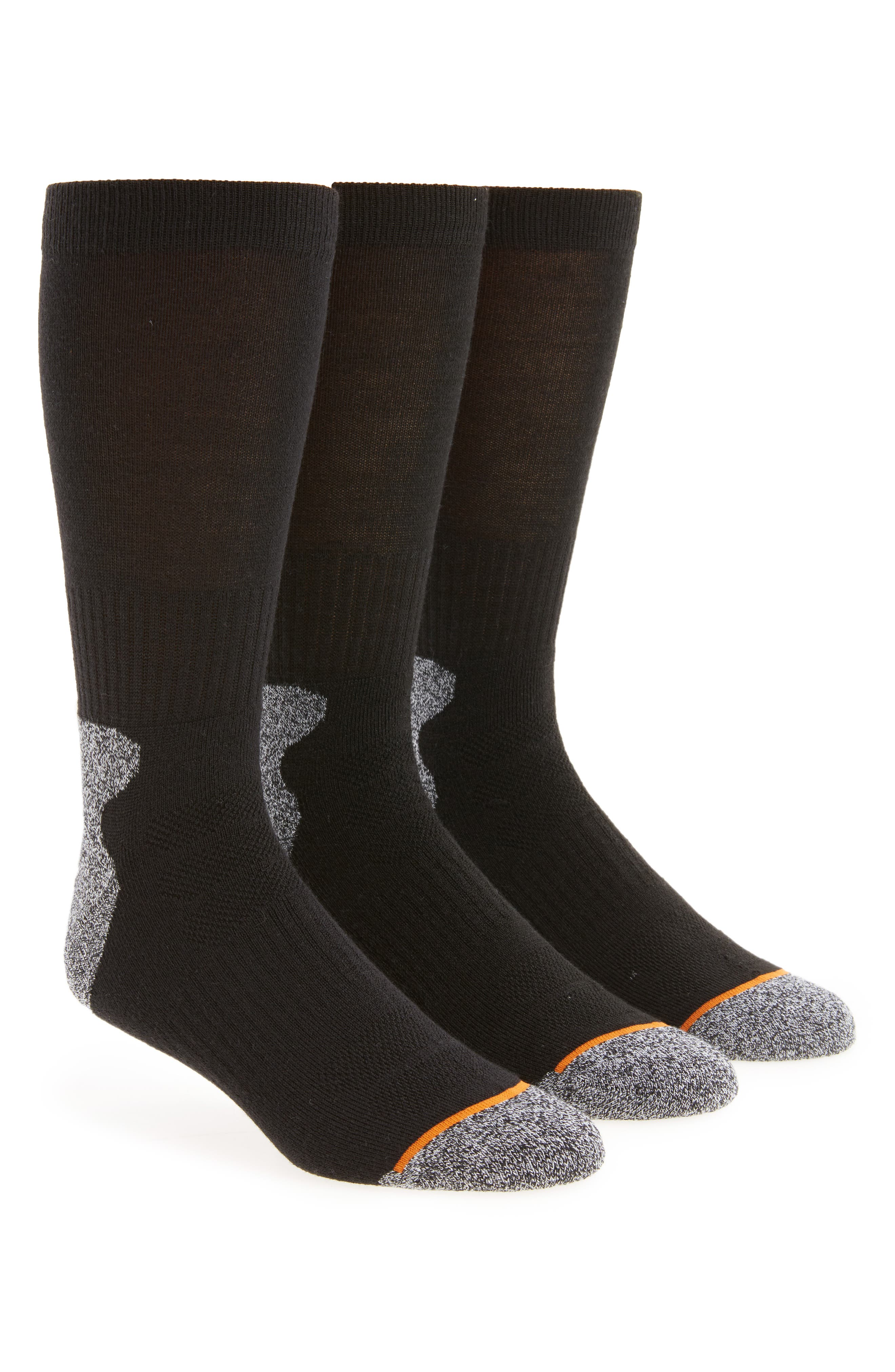 3-Pack Assorted Boot Socks,                             Main thumbnail 1, color,                             Black