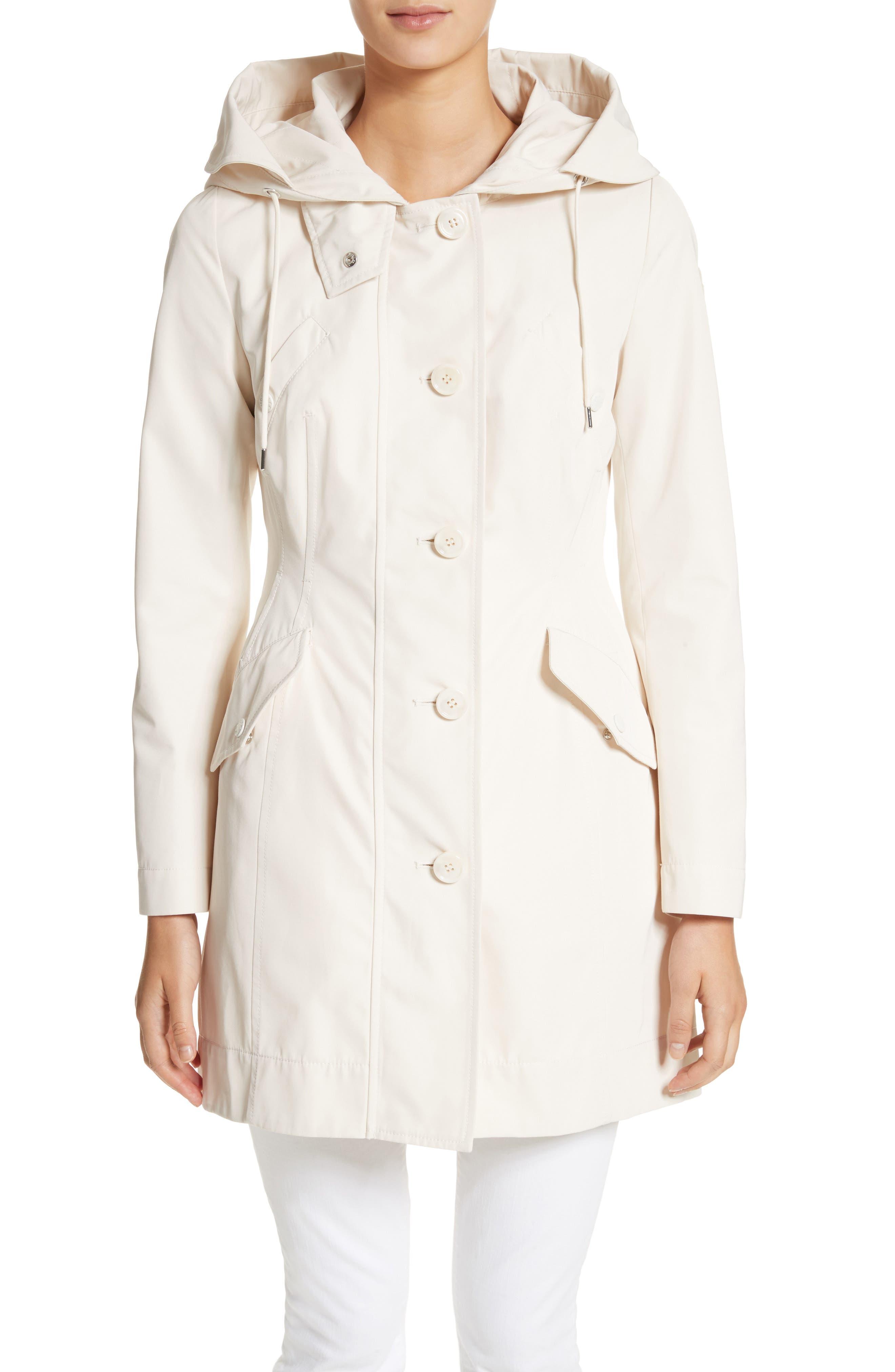 Alternate Image 1 Selected - Moncler Audrey Water Resistant Hooded Raincoat
