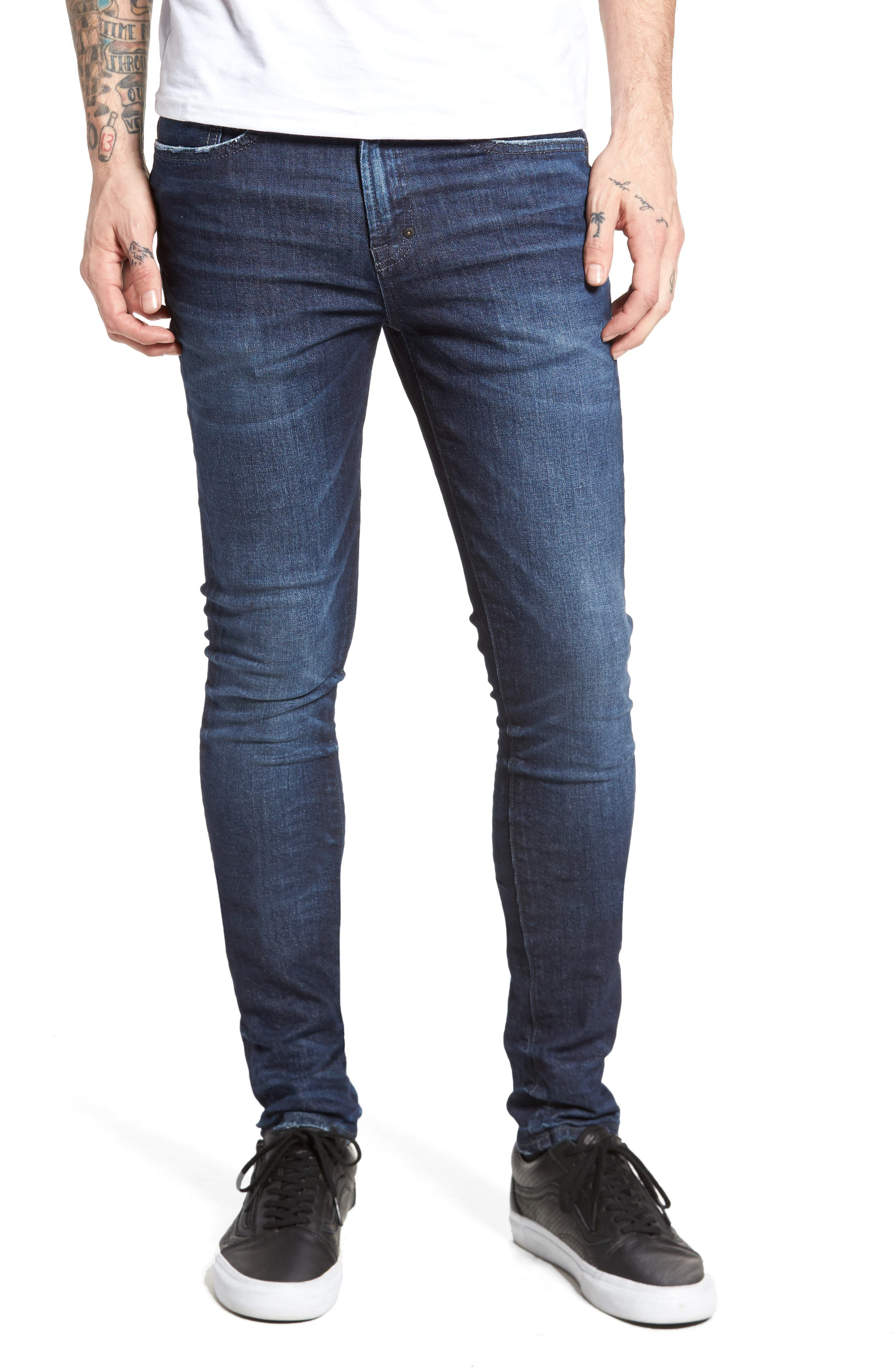 Windsor Slim Fit Jeans,                             Main thumbnail 1, color,                             Dark Blue