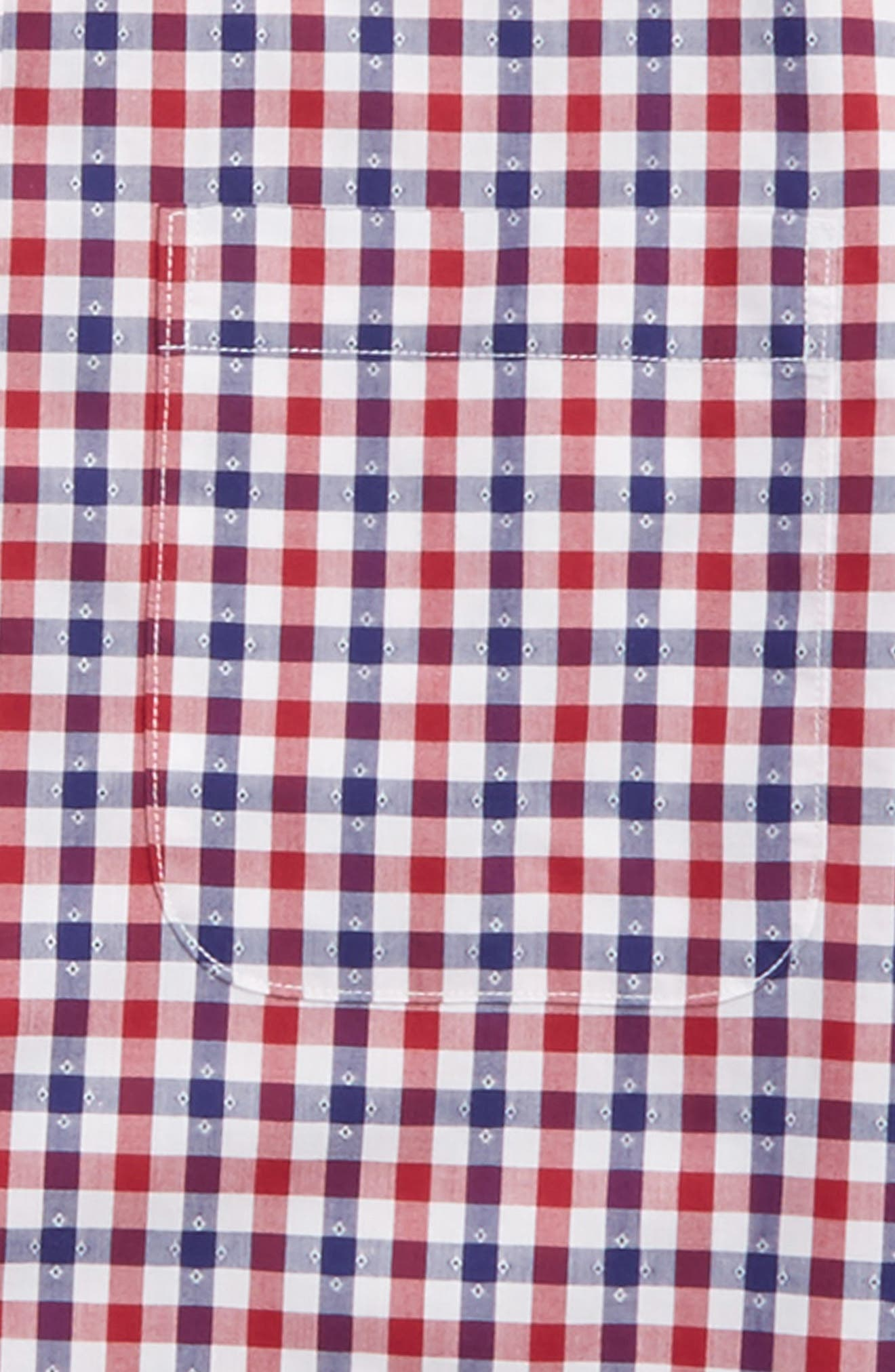 Alternate Image 2  - Nordstrom Dot Gingham Sport Shirt (Big Boys)