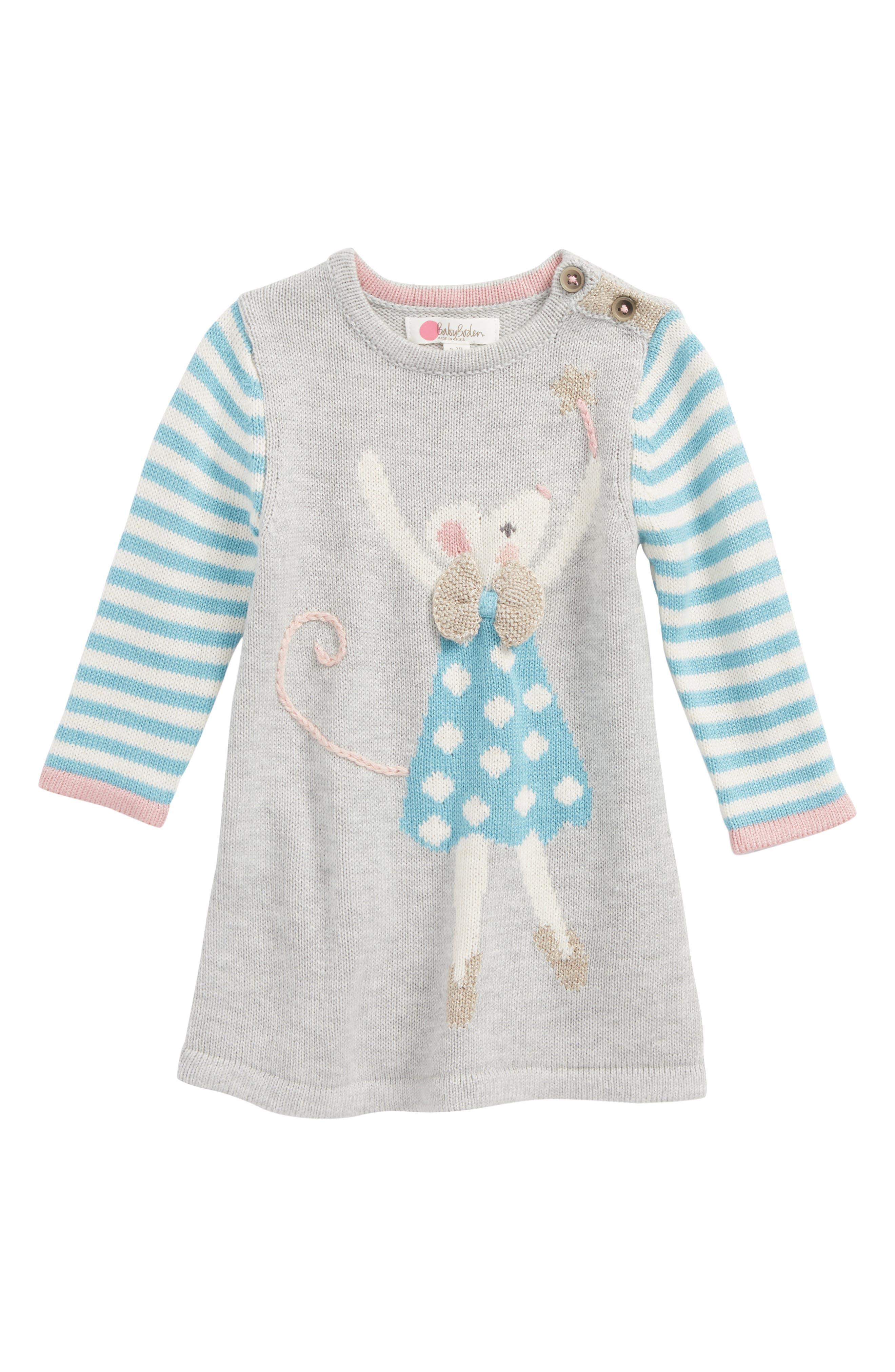 Mini Boden Forest Friends Knit Dress (Baby Girls & Toddler Girls)
