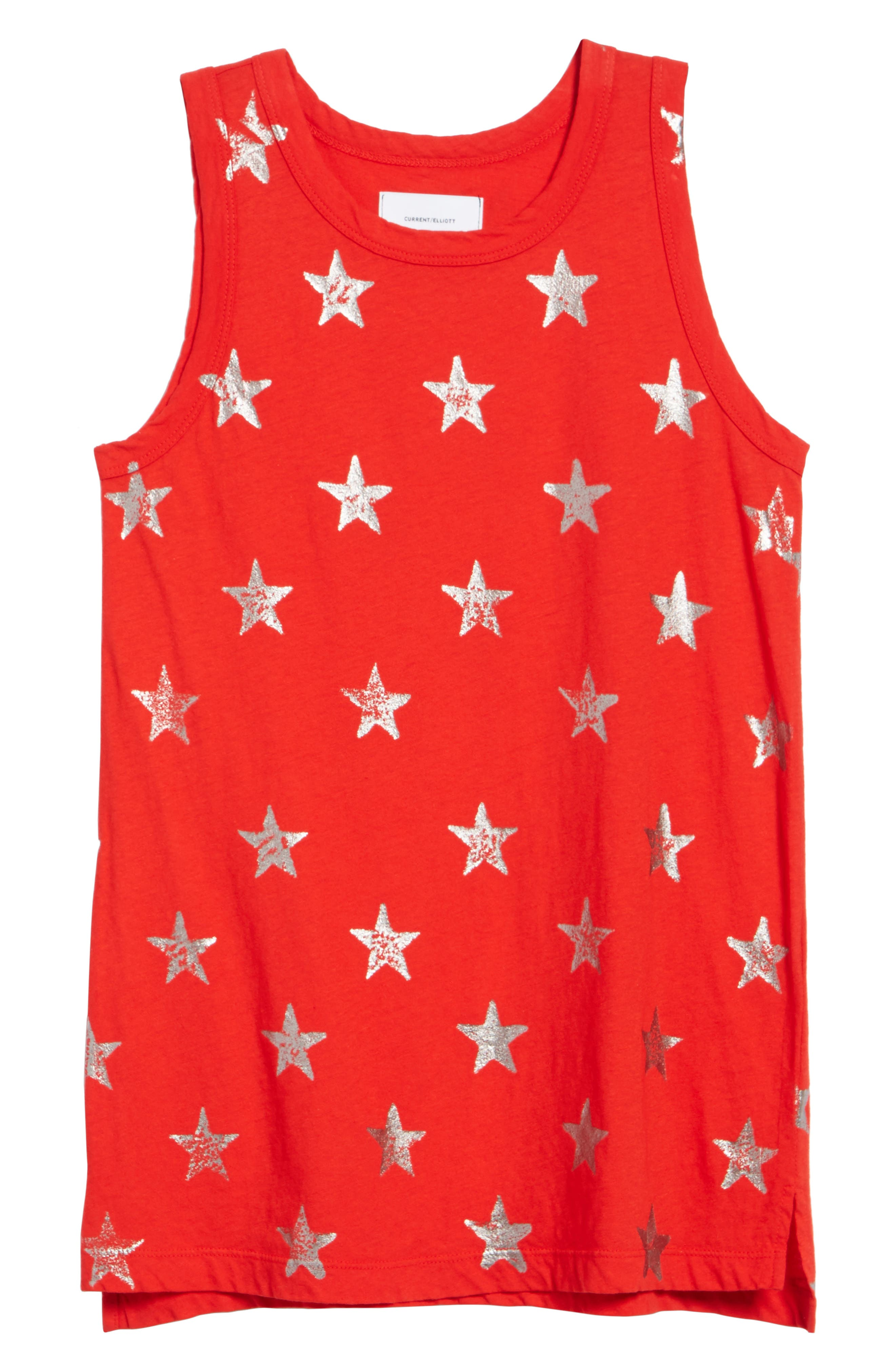 The Muscle Tee,                             Alternate thumbnail 6, color,                             Red Foil Star