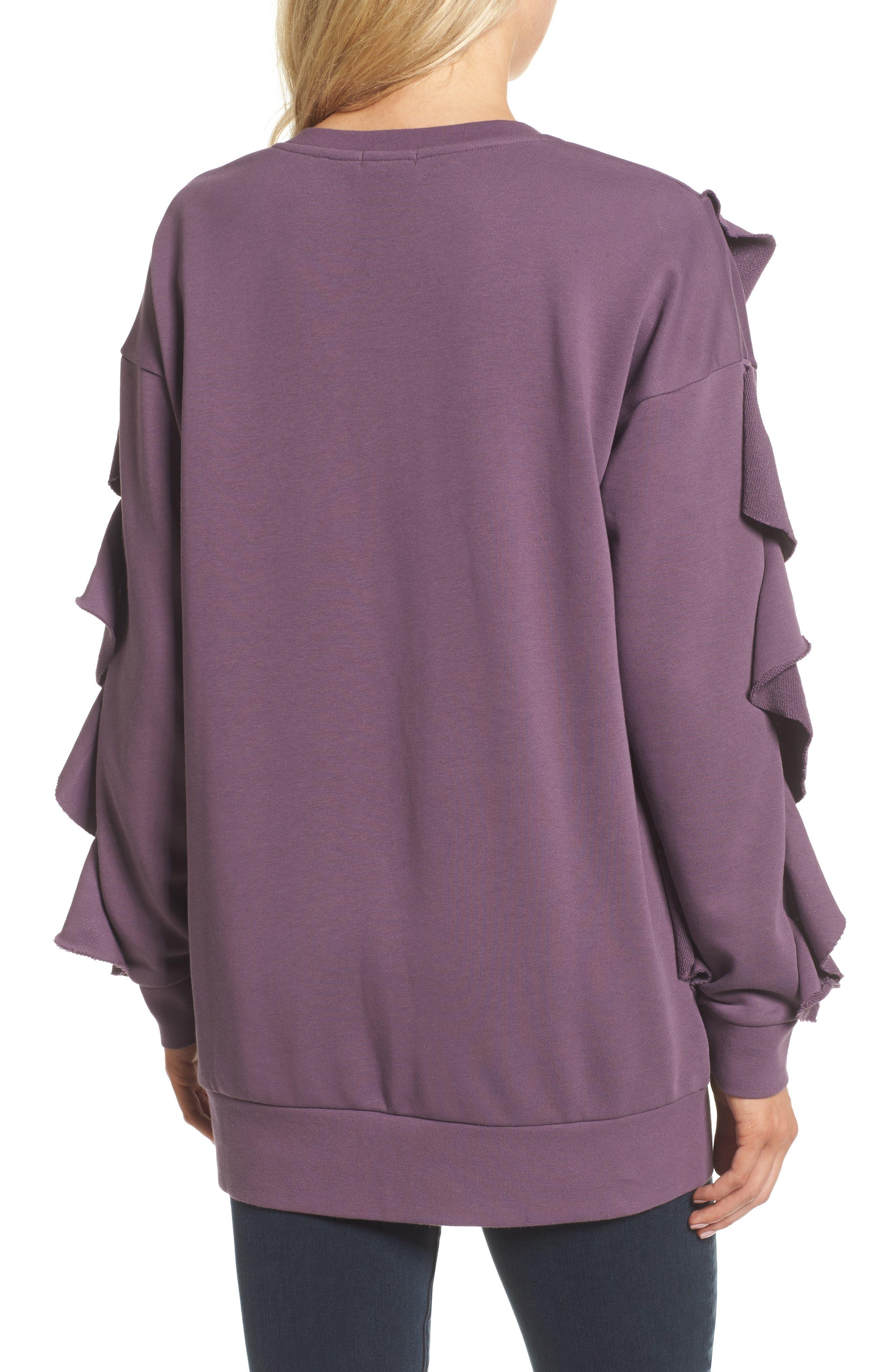 Alternate Image 2  - Chelsea28 Ruffle Sweatshirt