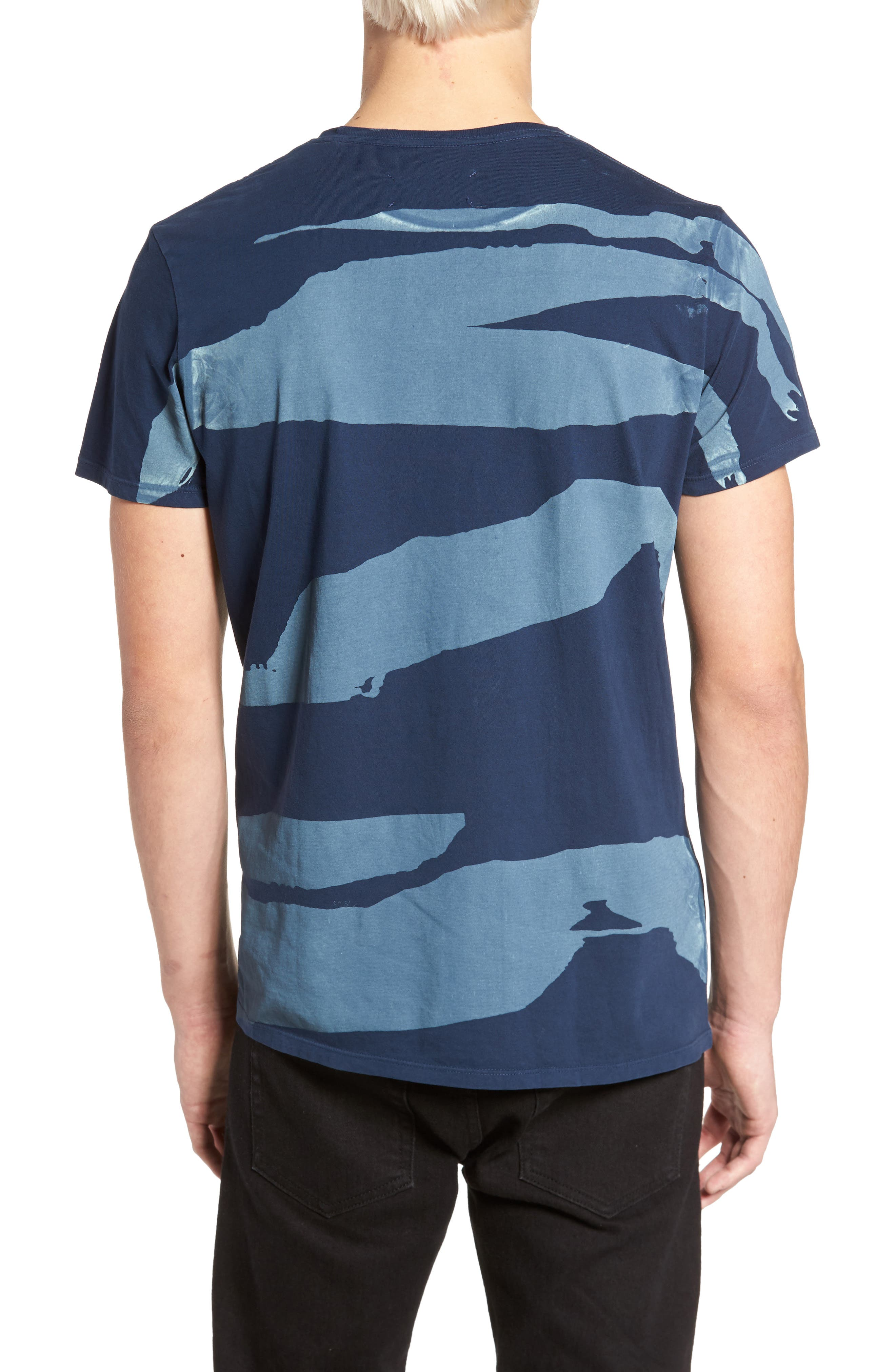 Torn Stripes T-Shirt,                             Alternate thumbnail 2, color,                             Navy