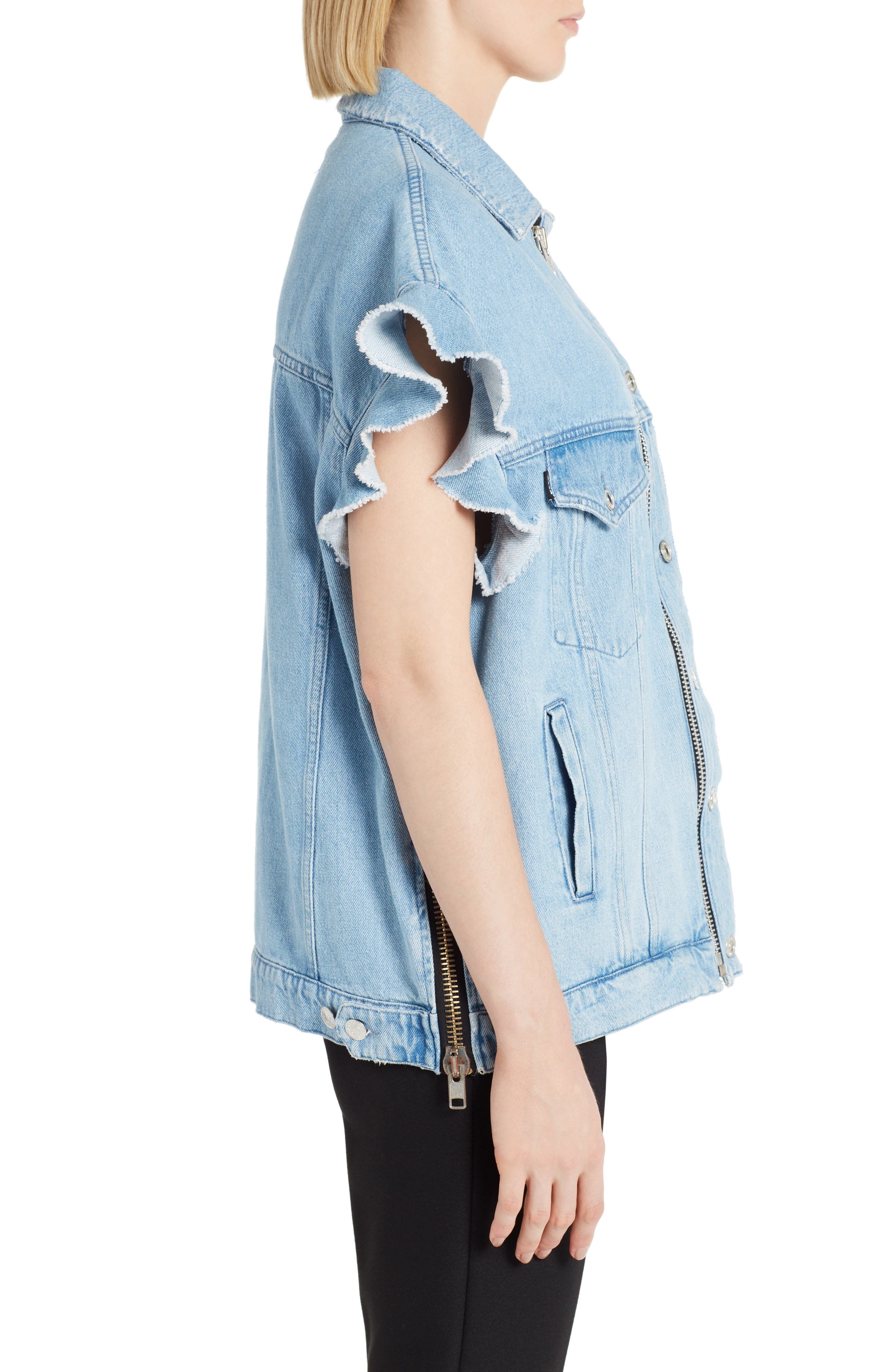 Alternate Image 2  - MSGM Zip Front Denim Jacket
