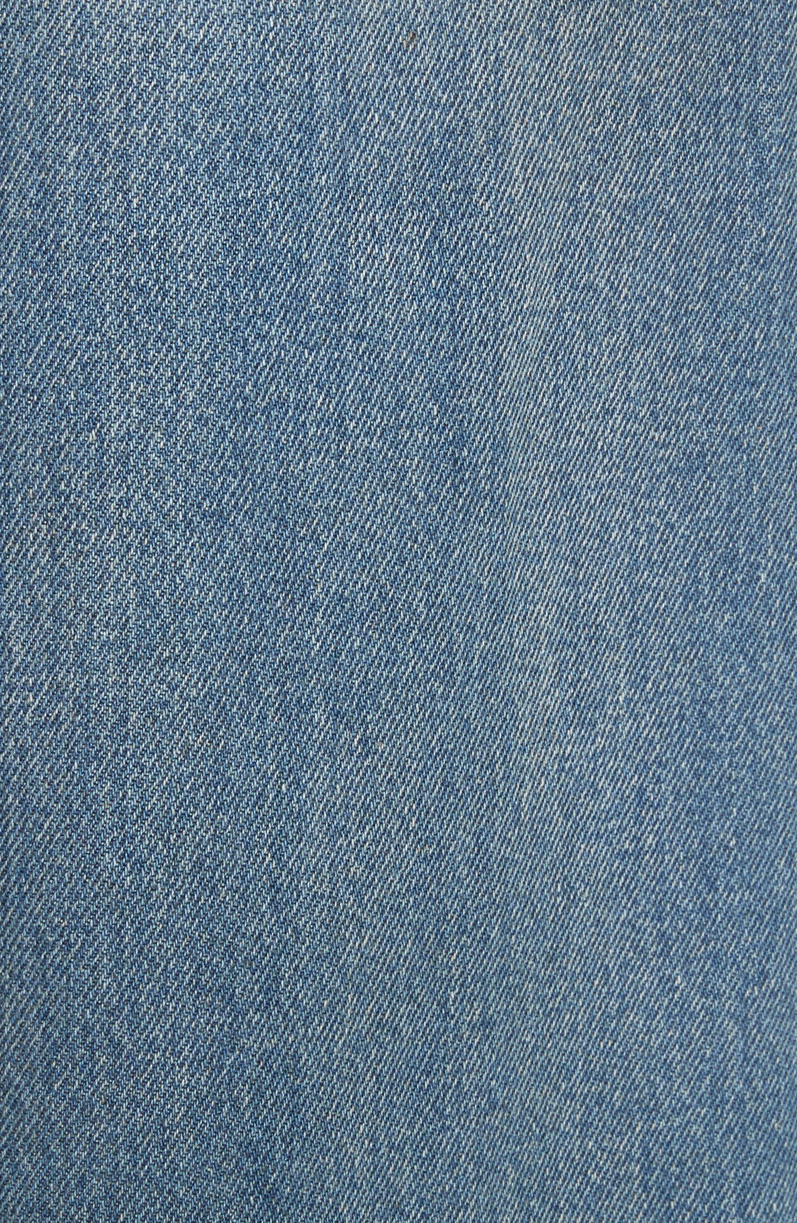 Drawstring Wide Leg Jeans,                             Alternate thumbnail 5, color,                             Indigo Stone Wash