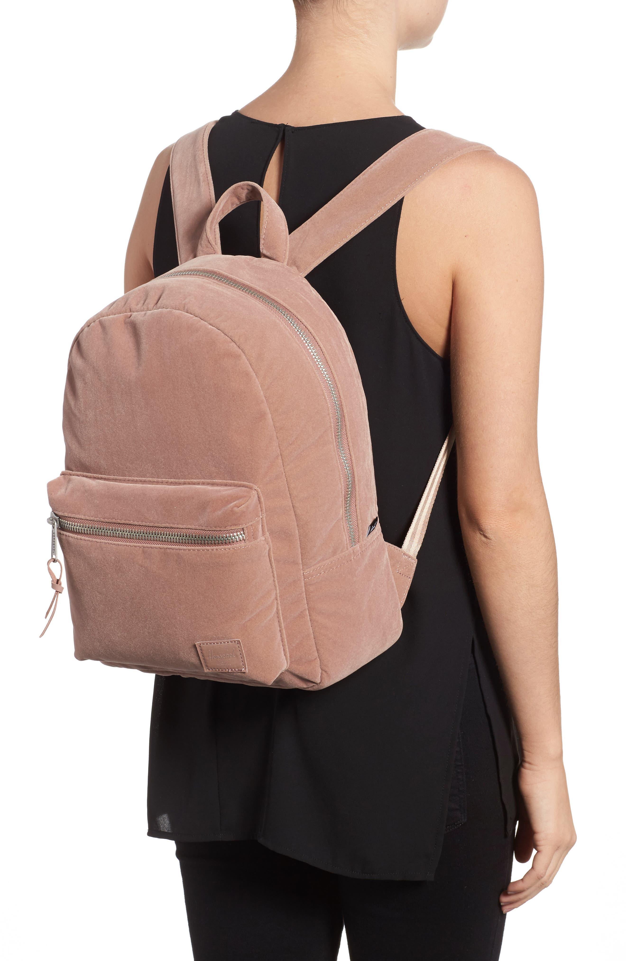 X-Small Velvet Grove Backpack,                             Alternate thumbnail 2, color,                             Ash Rose