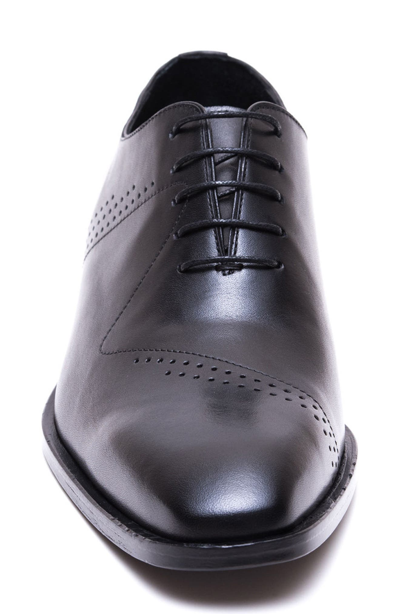 Buffer Plain Toe Oxford,                             Alternate thumbnail 4, color,                             Black