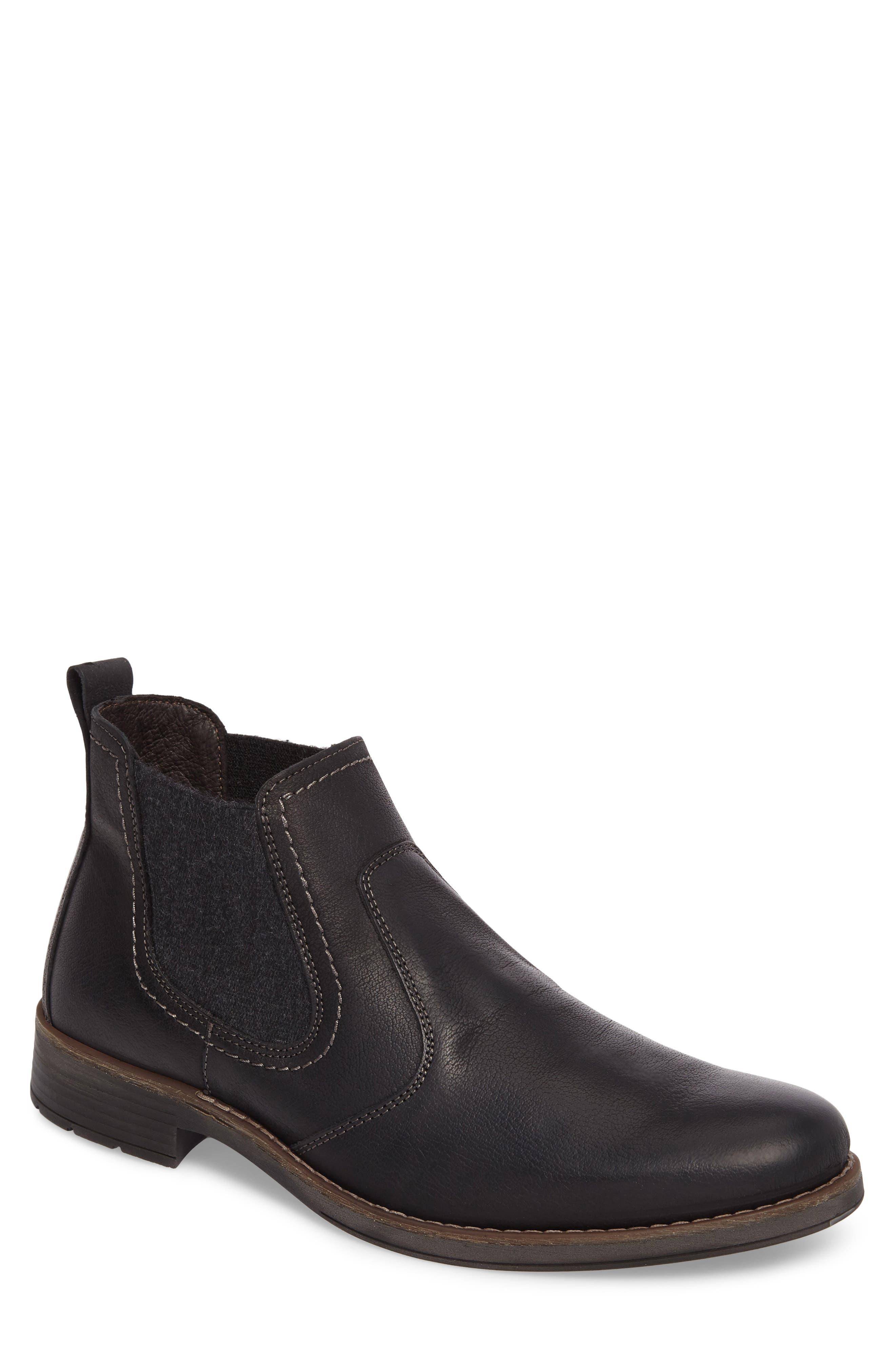 Spokane Chelsea Boot,                         Main,                         color, Black Leather