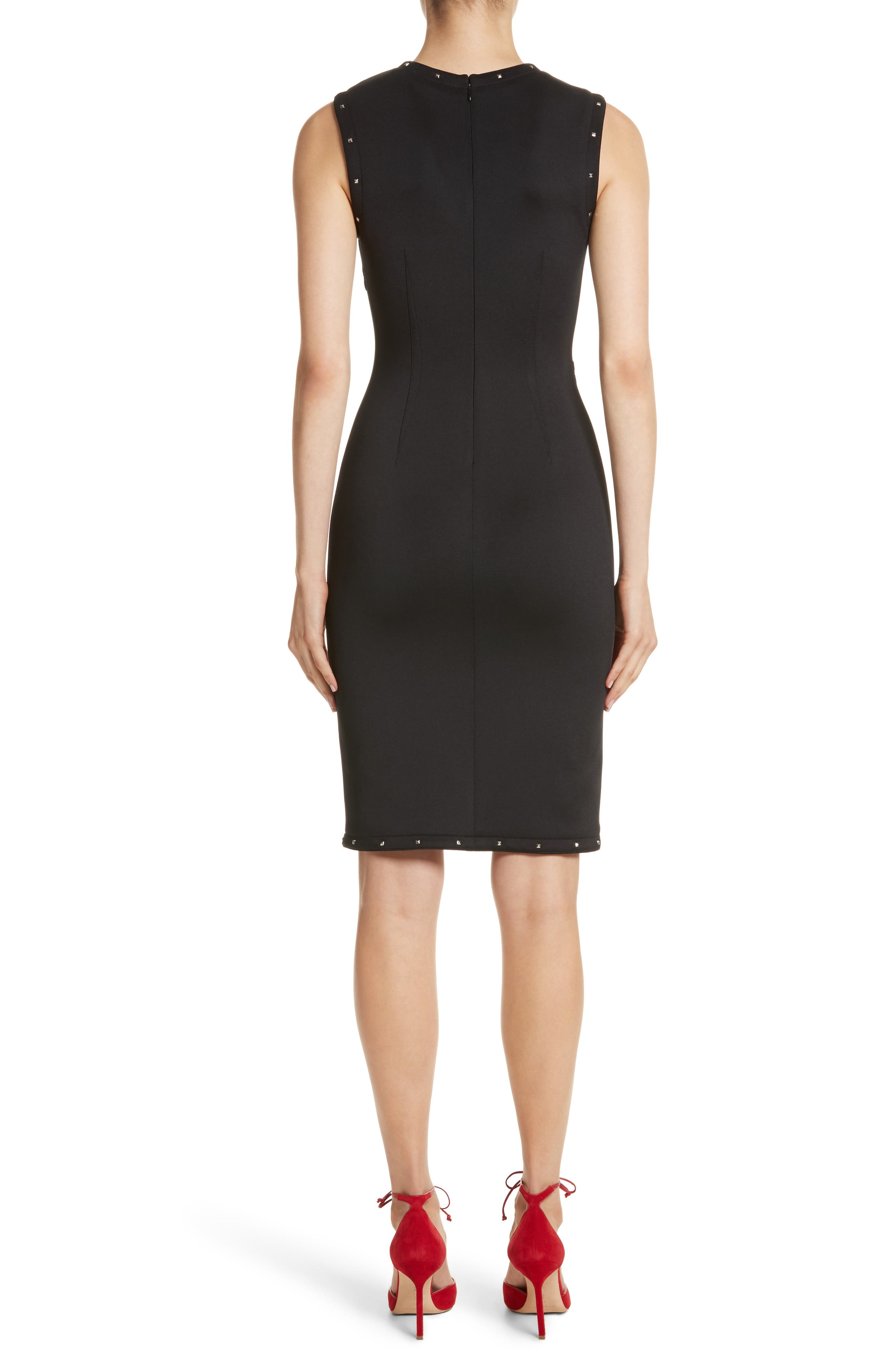 Alternate Image 2  - Yigal Azrouël Studded Scuba Sheath Dress