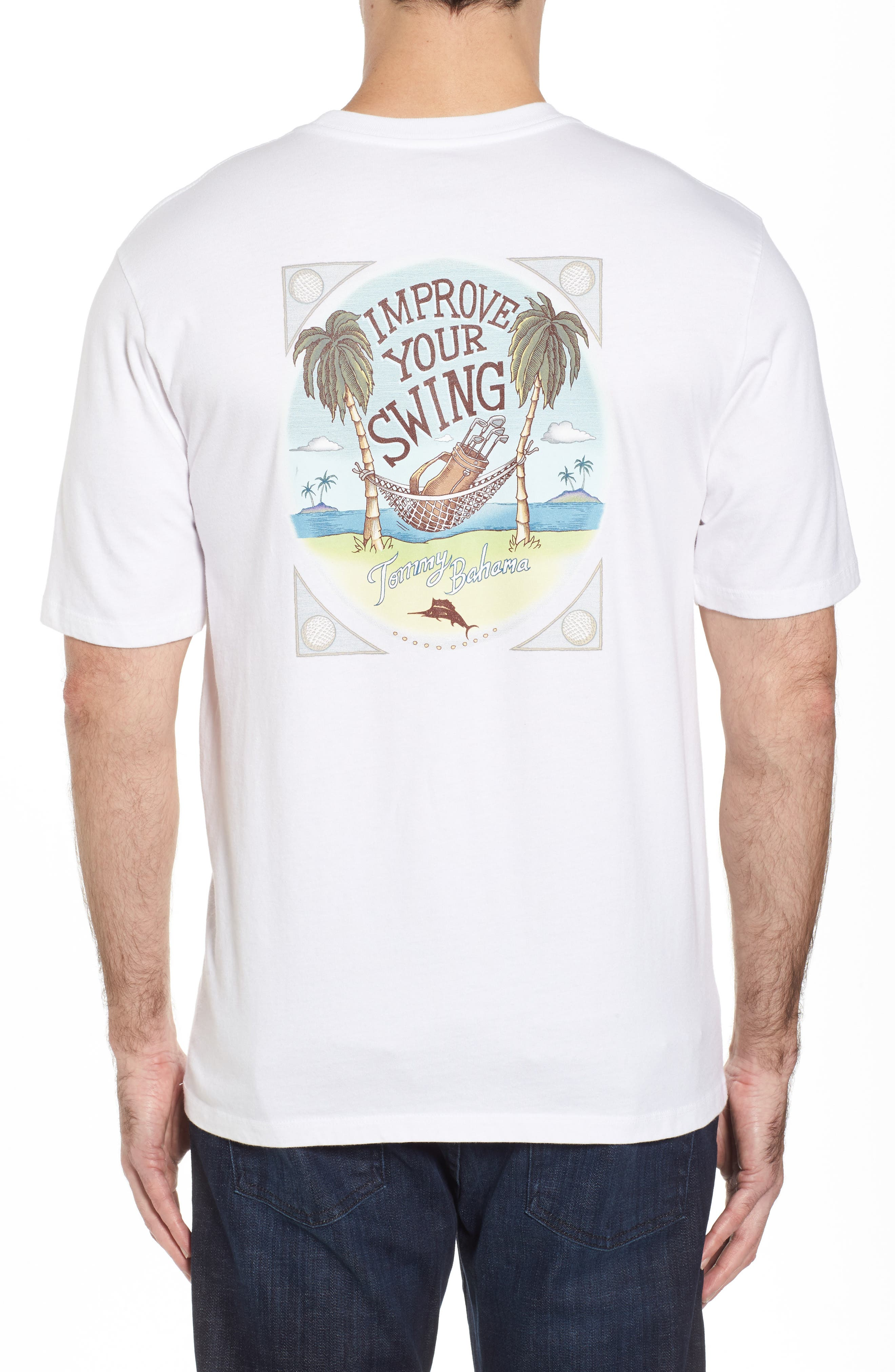 Improve Your Swing T-Shirt,                             Main thumbnail 1, color,                             White