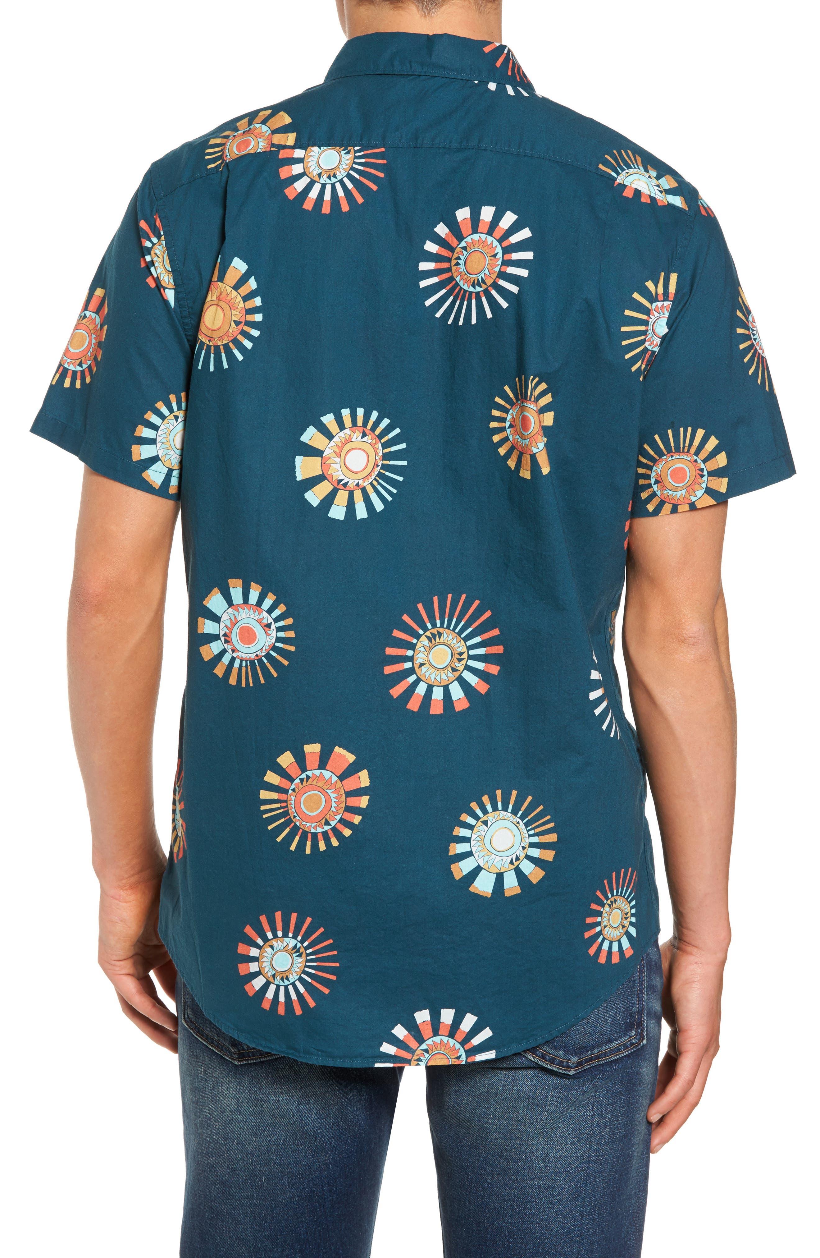 Sunday Floral Woven Shirt,                             Alternate thumbnail 2, color,                             Navy