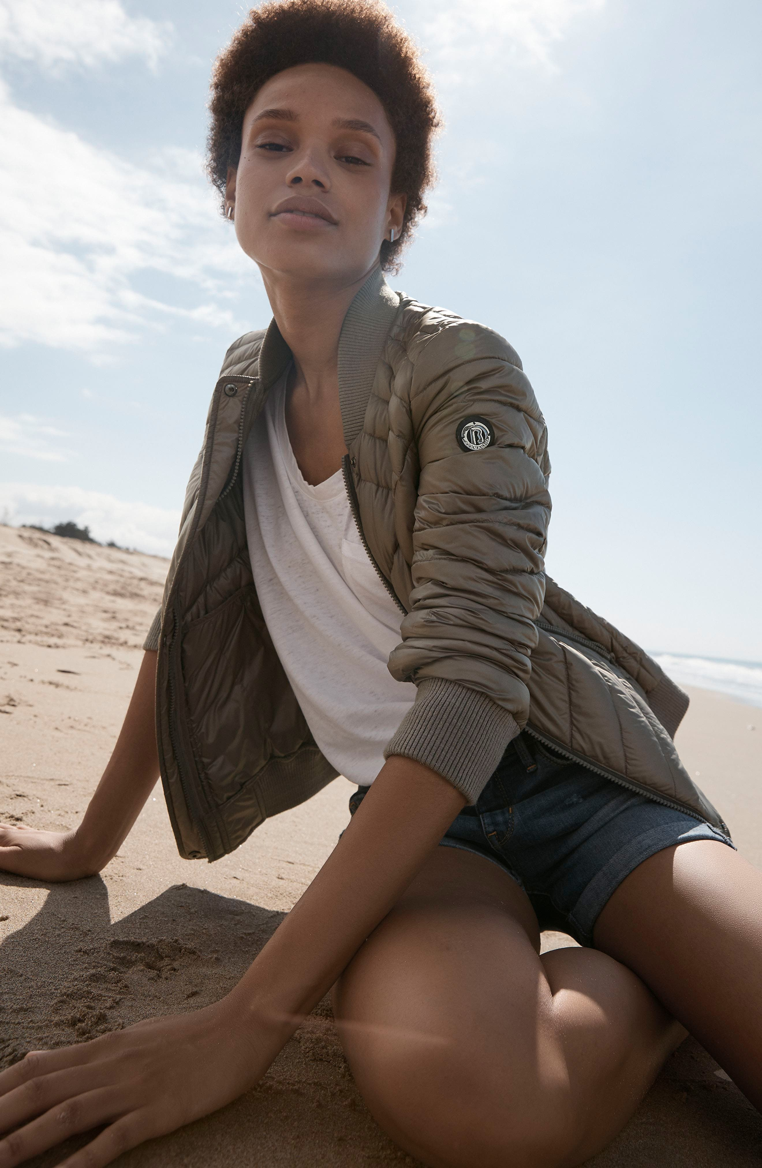 Water Resistant Insulated Bomber Jacket,                             Alternate thumbnail 2, color,