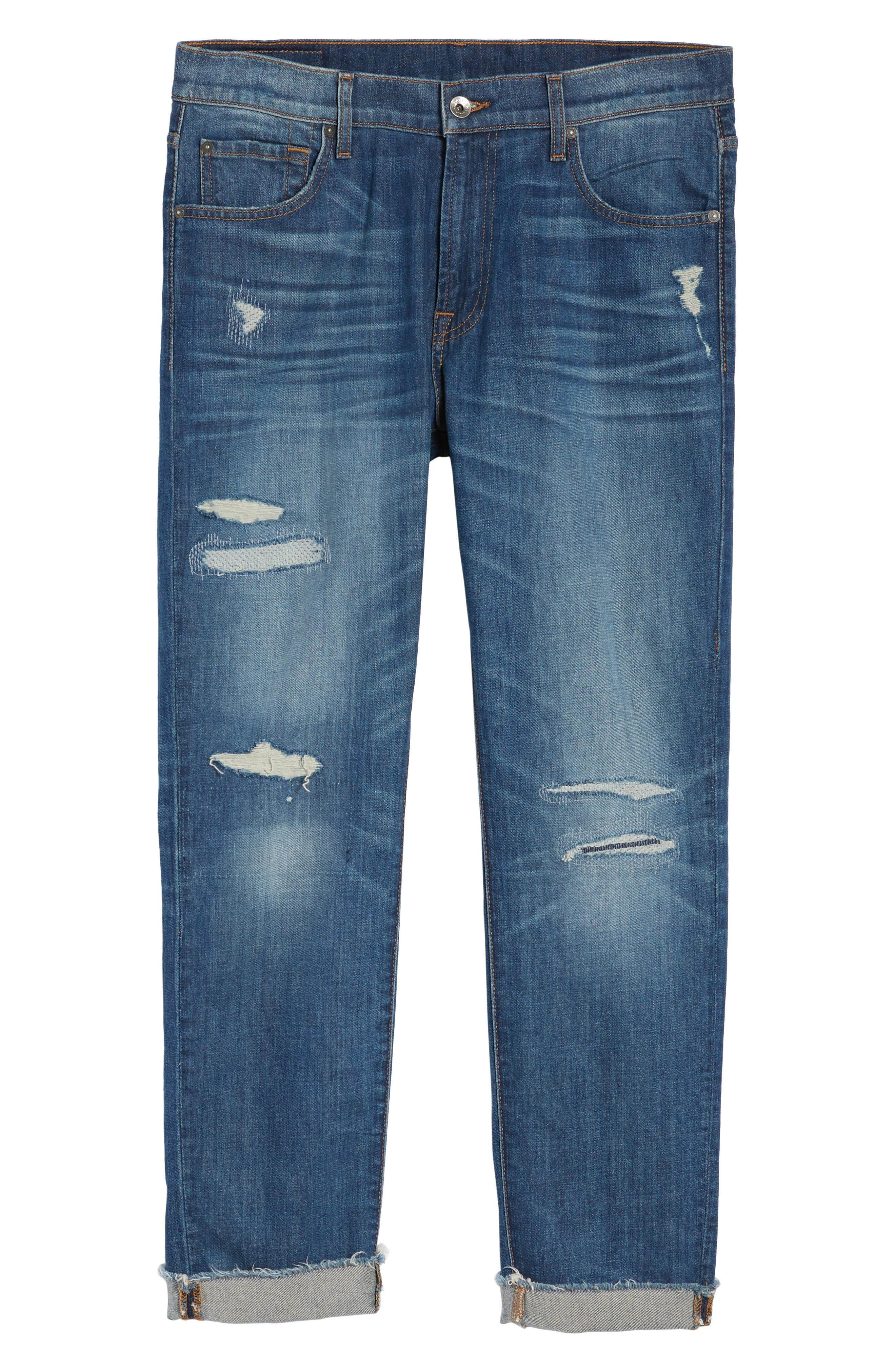 Alternate Image 6  - 7 For All Mankind® Adrien Slim Fit Jeans (Walk Out)