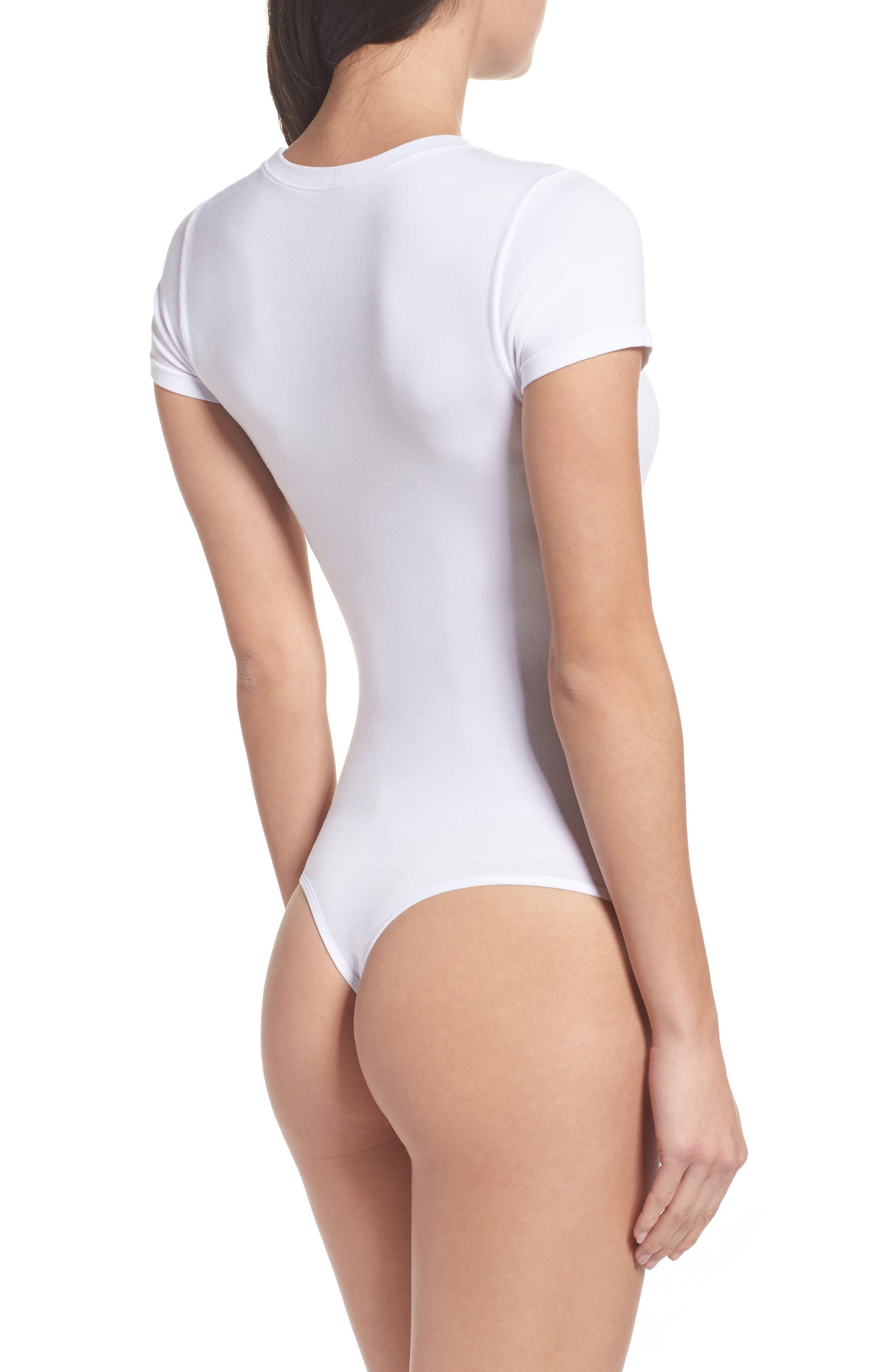 Thong Bodysuit,                             Alternate thumbnail 2, color,                             White