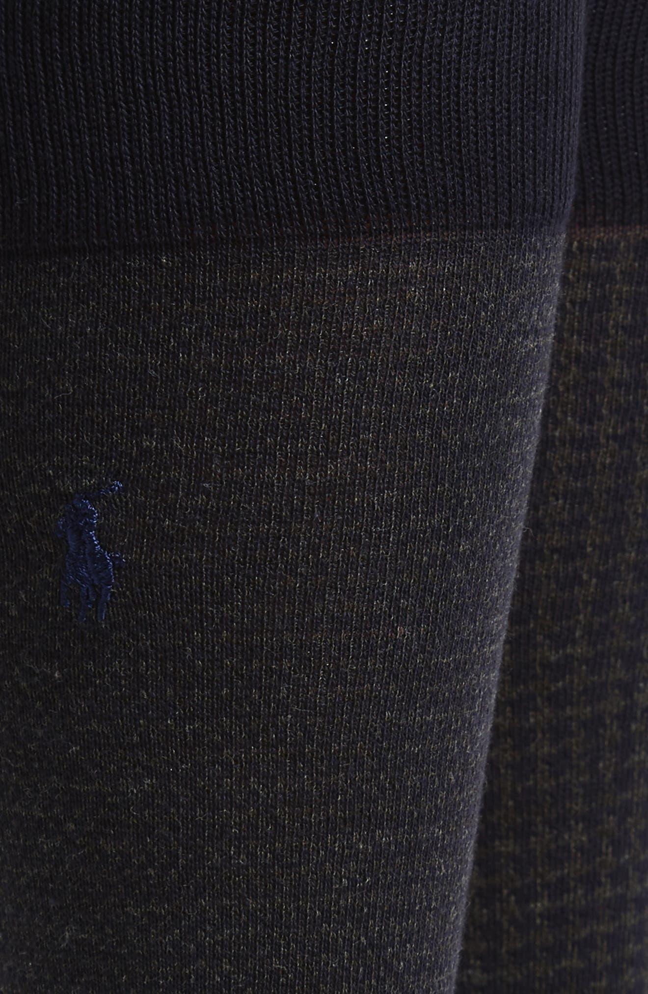 2-Pack Assorted Houndstooth Dress Socks,                             Alternate thumbnail 2, color,                             Navy