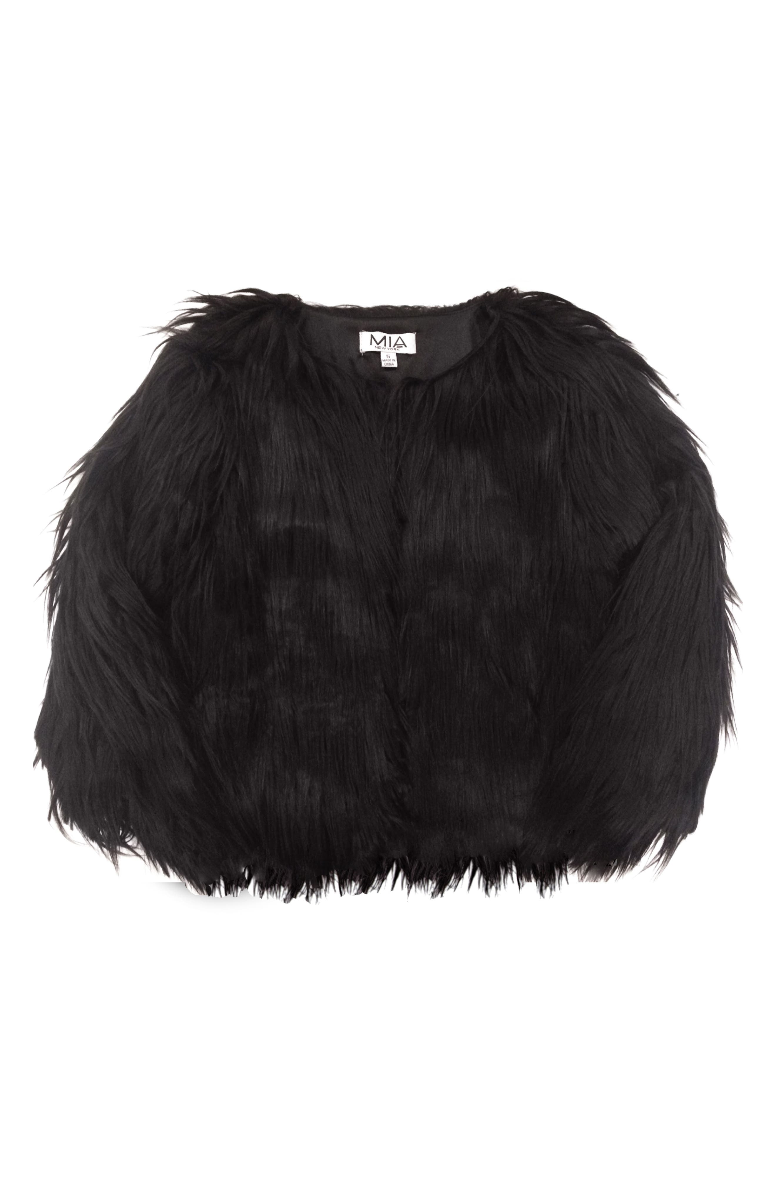 Mia New York Shaggy Faux Fur Jacket (Big Girls)