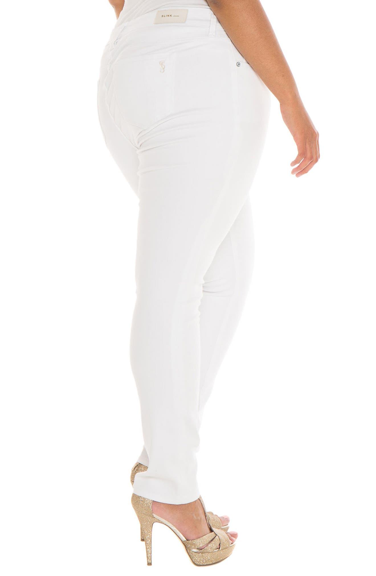 Alternate Image 3  - SLINK Jeans Skinny Jeans (Charlie) (Plus Size)