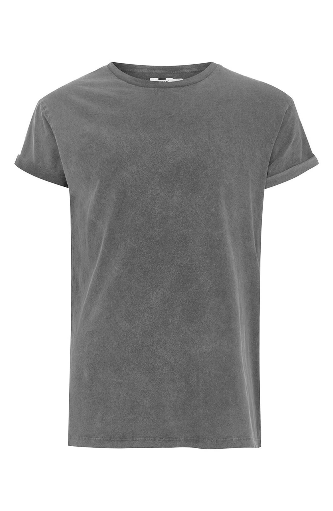 Acid Wash Classic Fit T-Shirt,                             Alternate thumbnail 4, color,                             Black