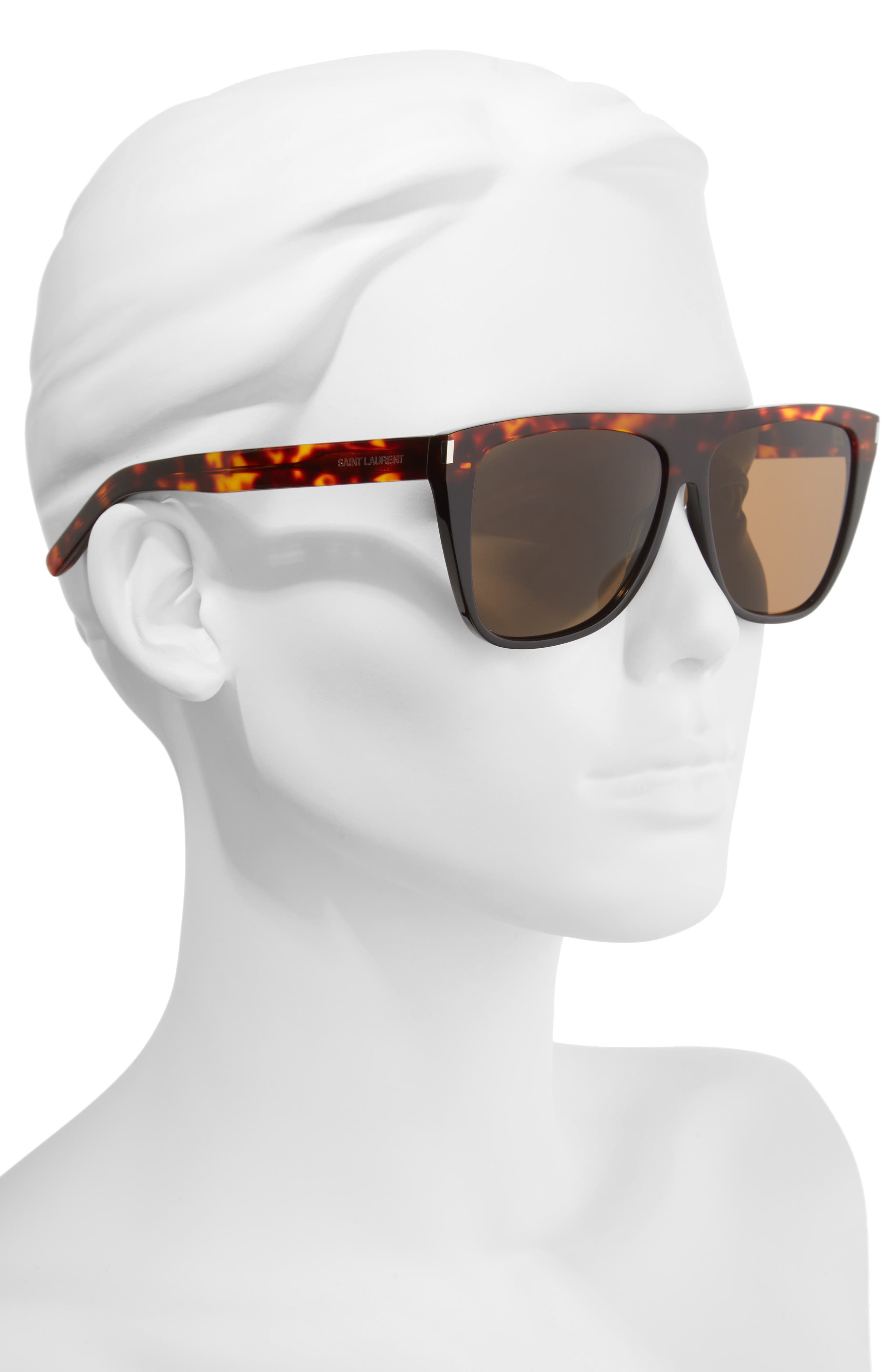 Alternate Image 2  - Saint Laurent SL1 59mm Flat Top Sunglasses