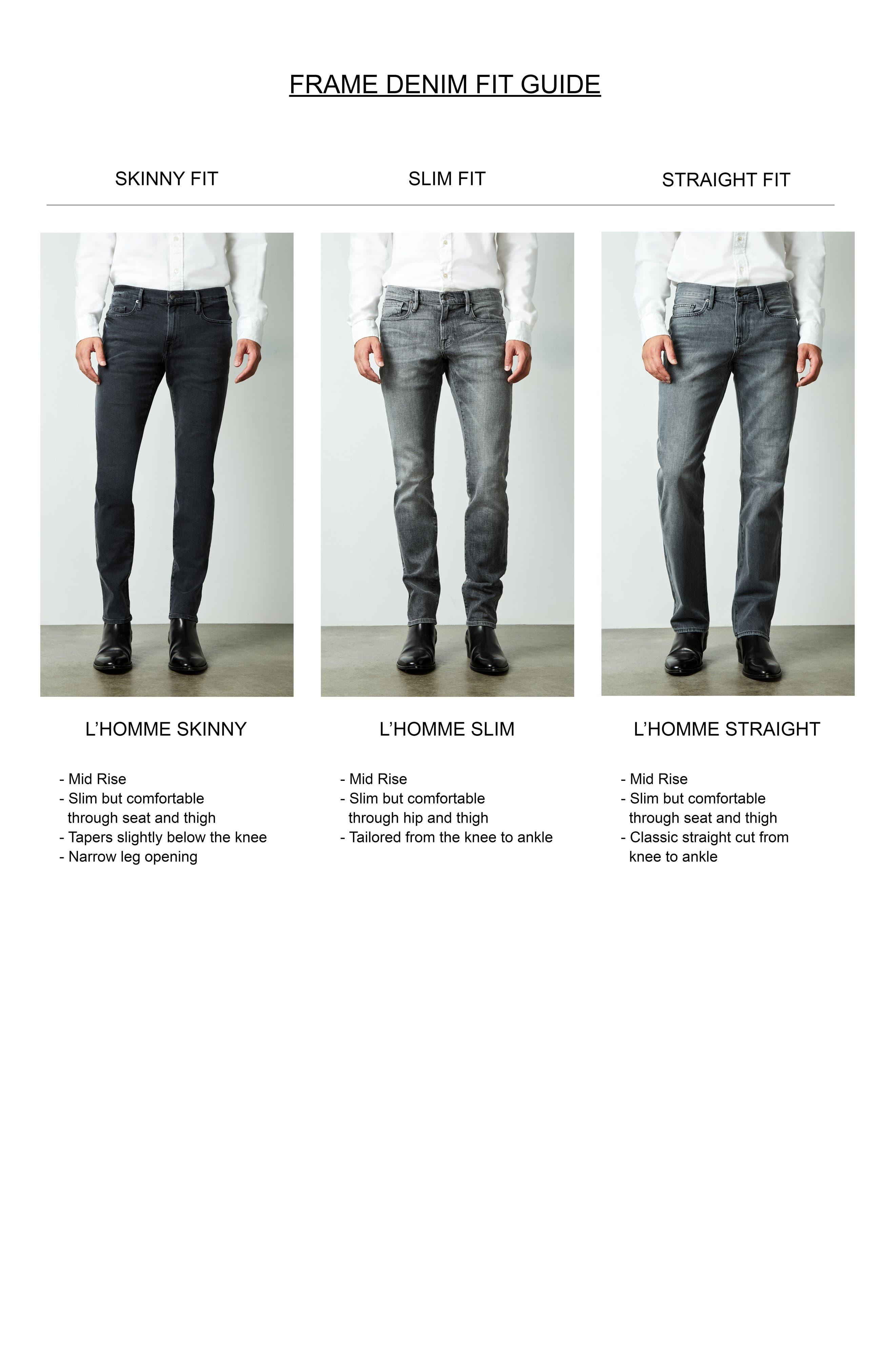 L'Homme Skinny Fit Jeans,                             Alternate thumbnail 7, color,                             Noir