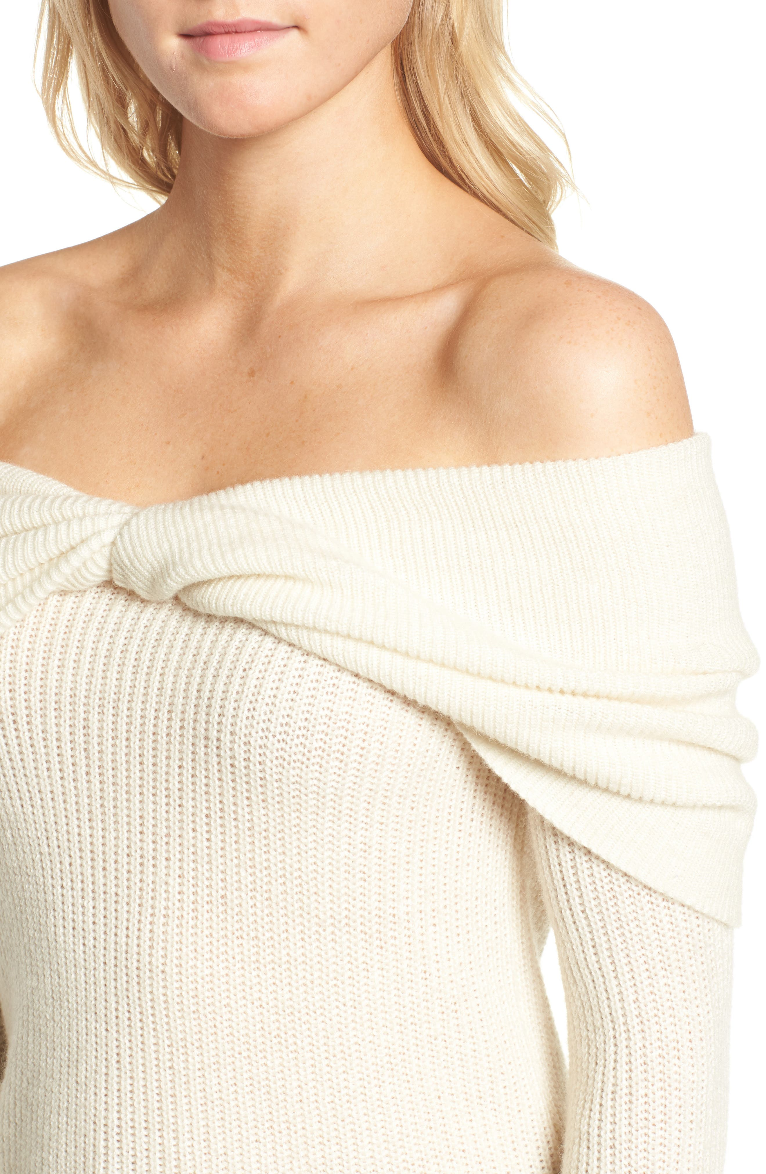 Alternate Image 4  - Ella Moss Off the Shoulder Sweater