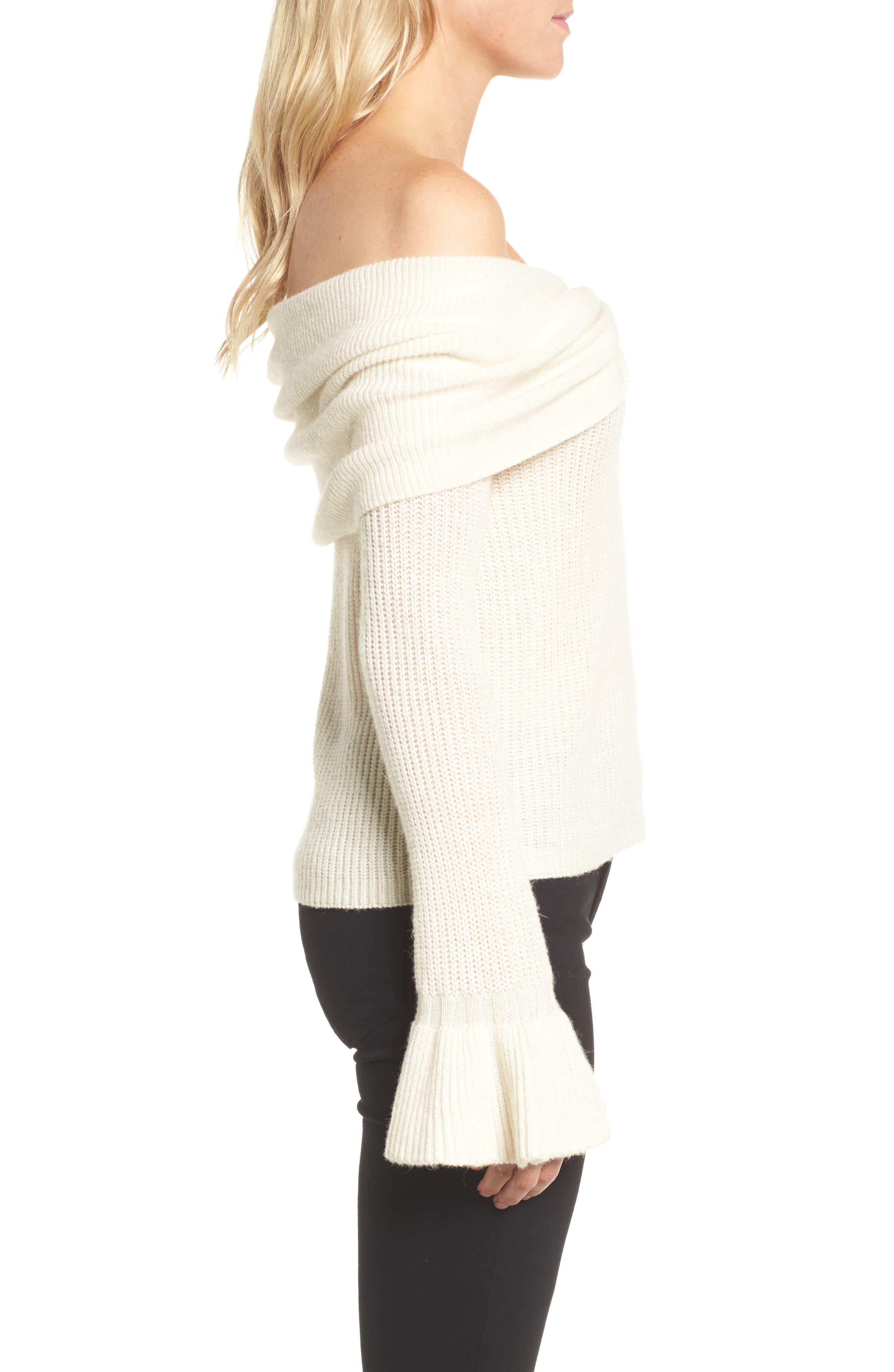 Alternate Image 3  - Ella Moss Off the Shoulder Sweater