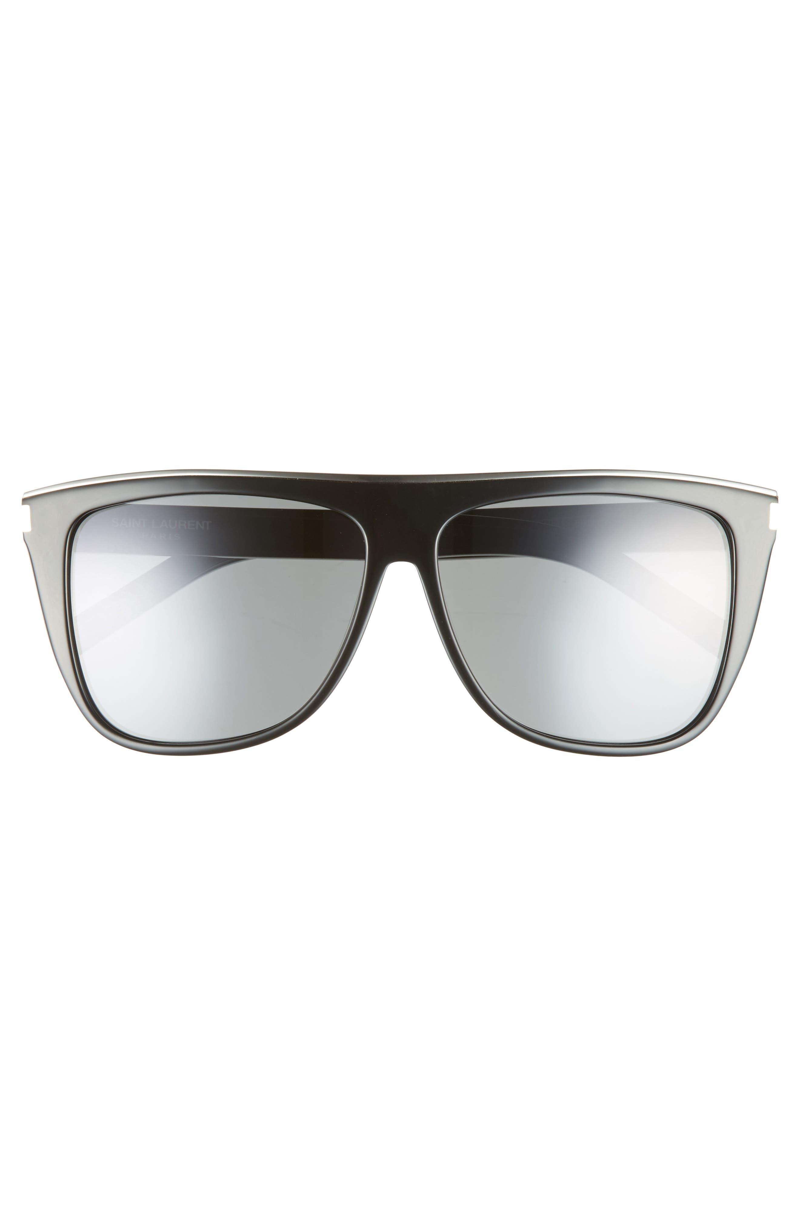 Combi 59mm Flat Top Sunglasses,                             Alternate thumbnail 3, color,                             Black