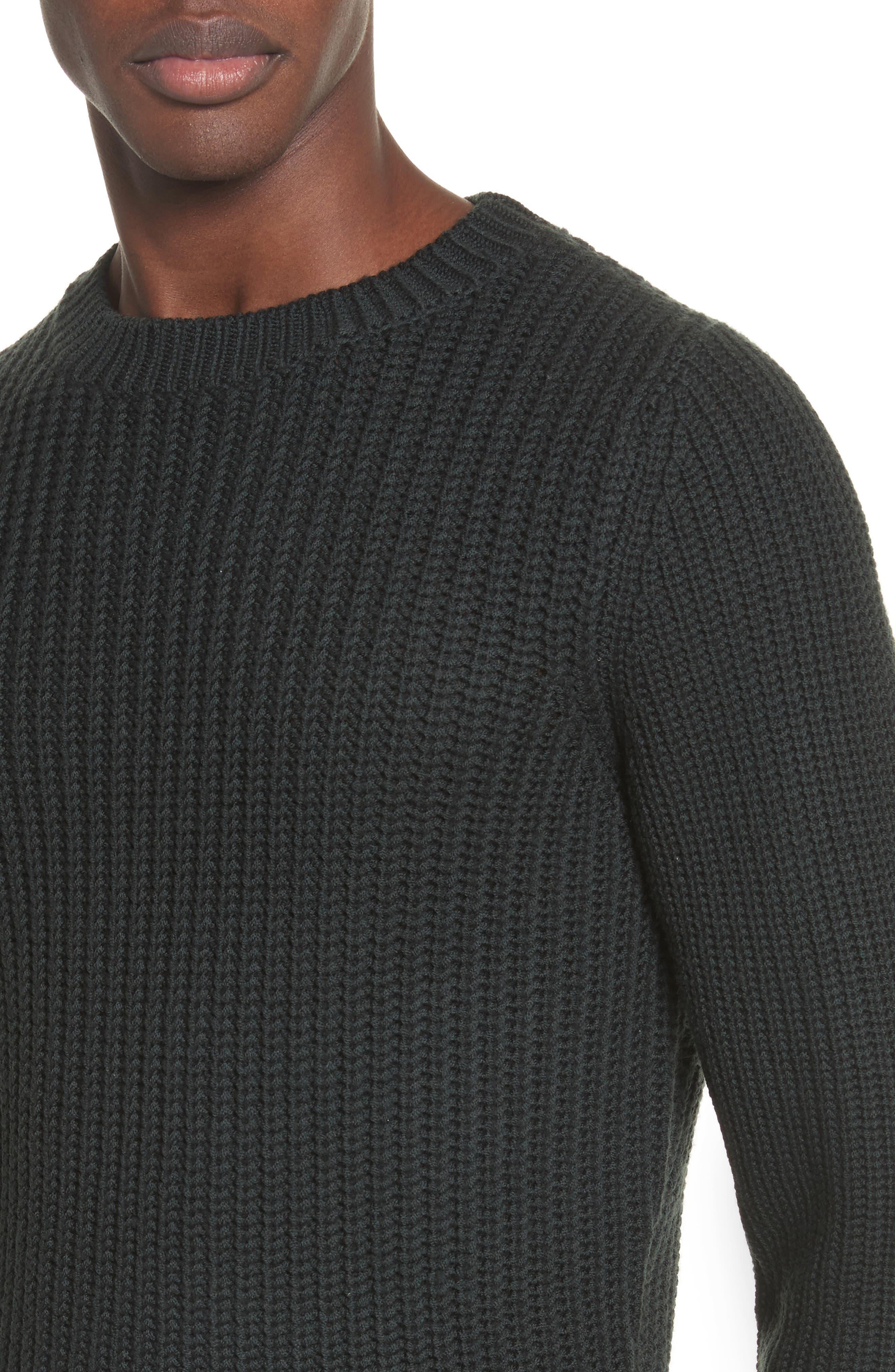 Pull Berger Merino Wool Sweater,                             Alternate thumbnail 4, color,                             Khaki Green