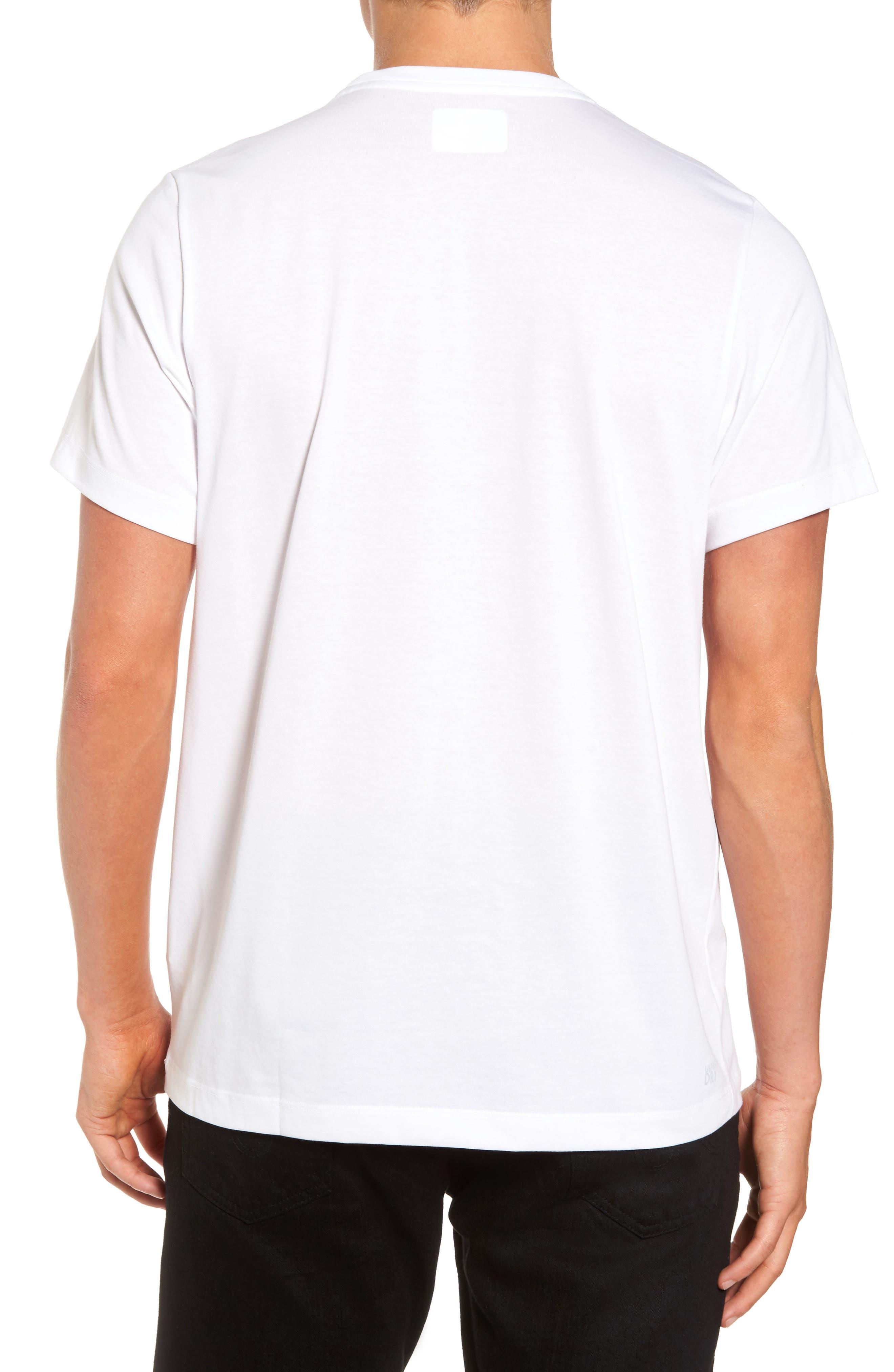 Tech Vertical Stripe Graphic T-Shirt,                             Alternate thumbnail 2, color,                             U88 White/ Ocean-Ladybird-Blac