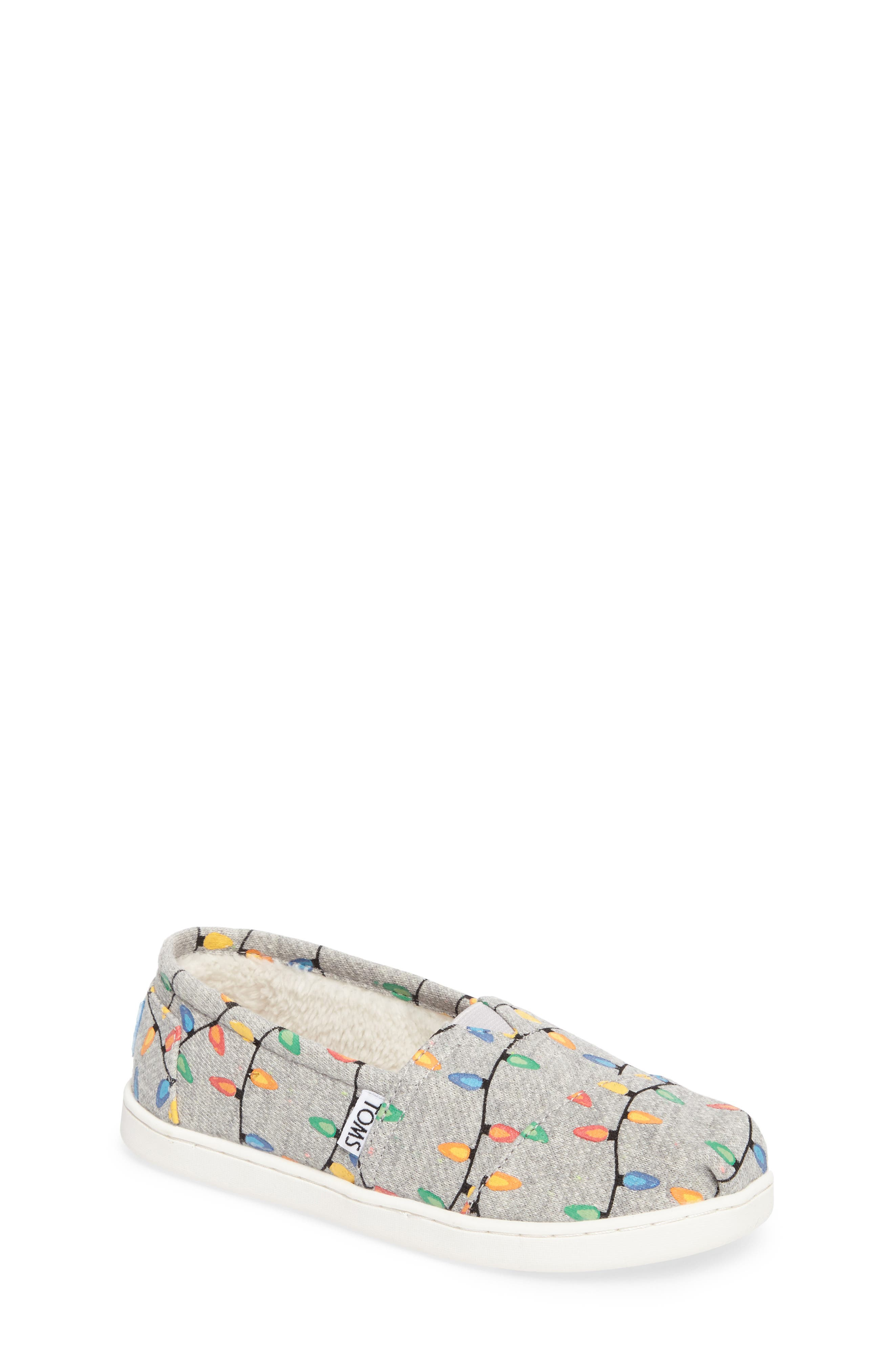 TOMS Classic Glow in the Dark Christmas Lights Slip-On (Toddler, Little Kid & Big Kid)