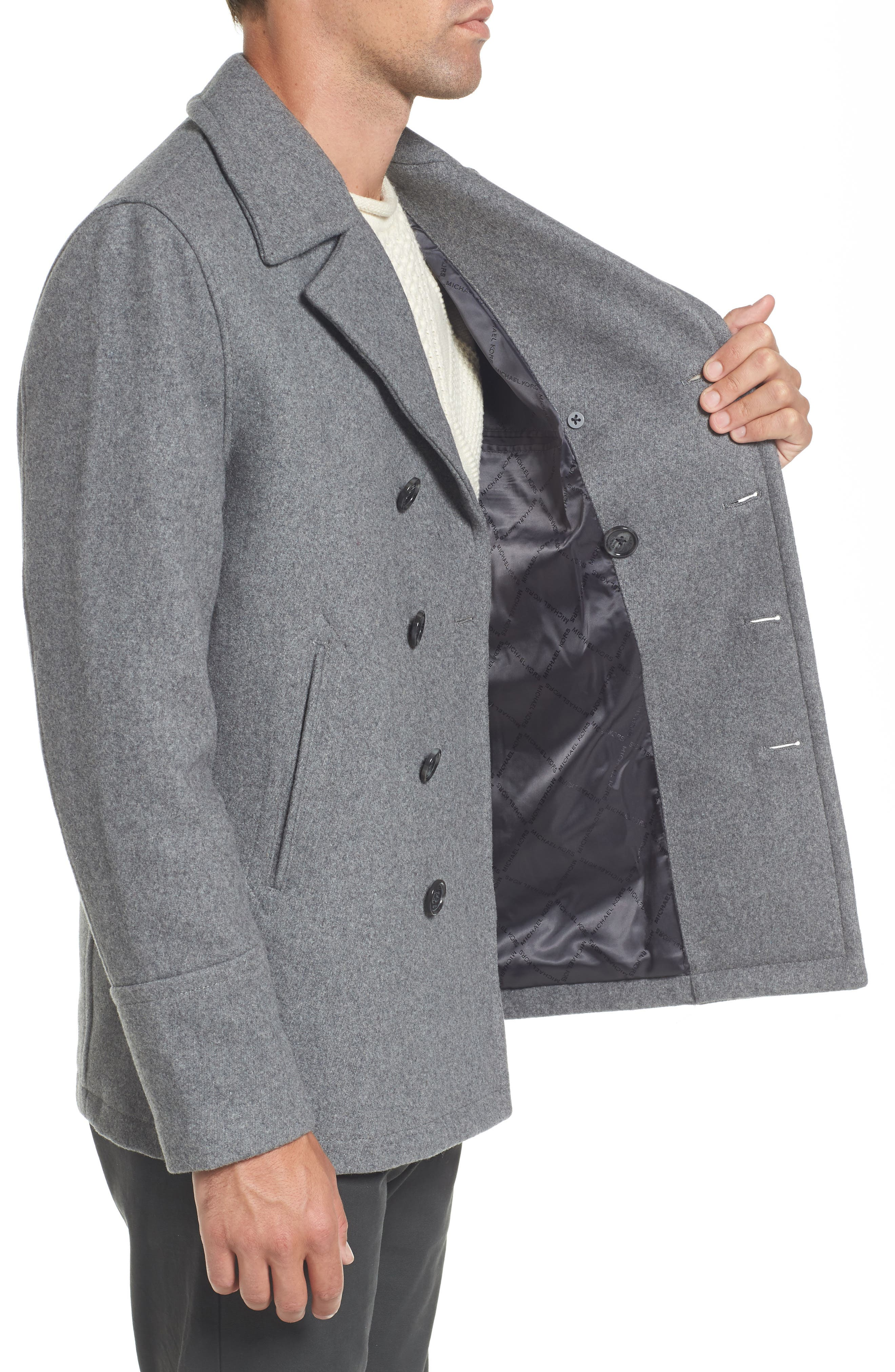 Alternate Image 3  - Michael Kors Wool Blend Double Breasted Peacoat