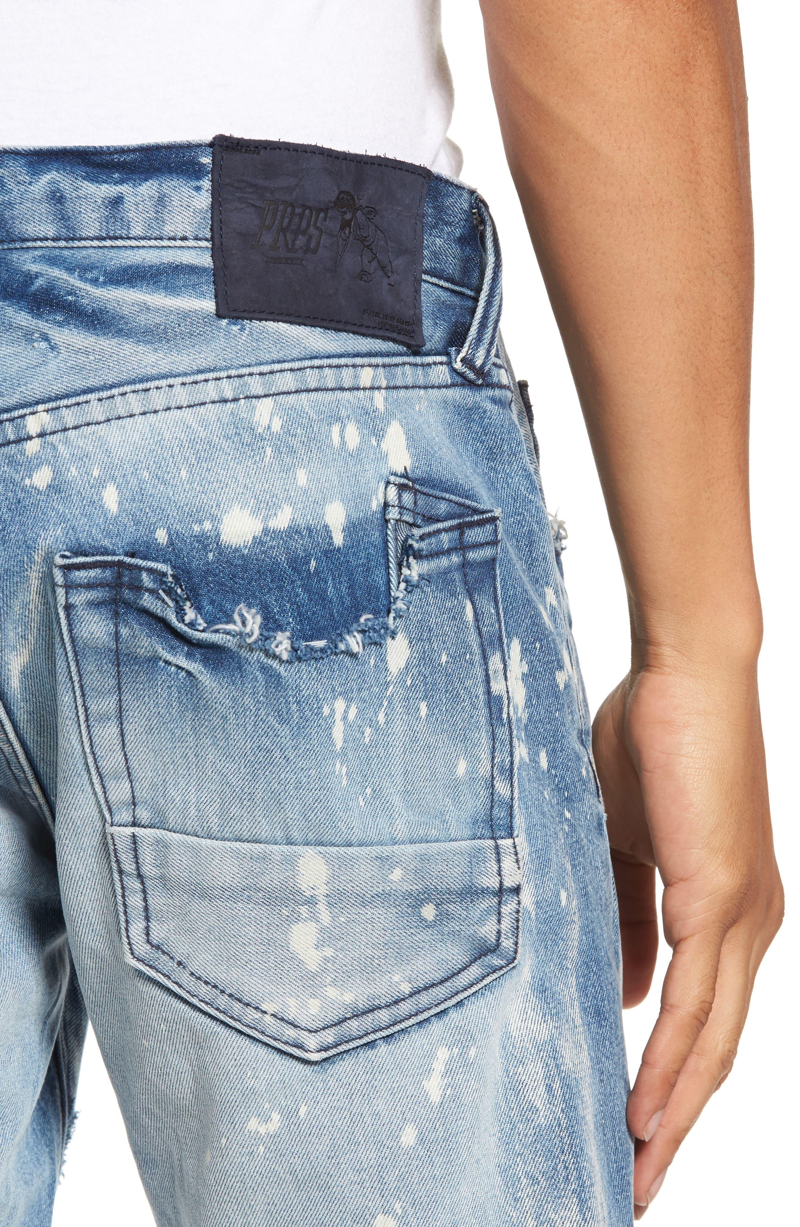 Alternate Image 4  - PRPS Demon Slim Straight Leg Jeans (Indigoblue)