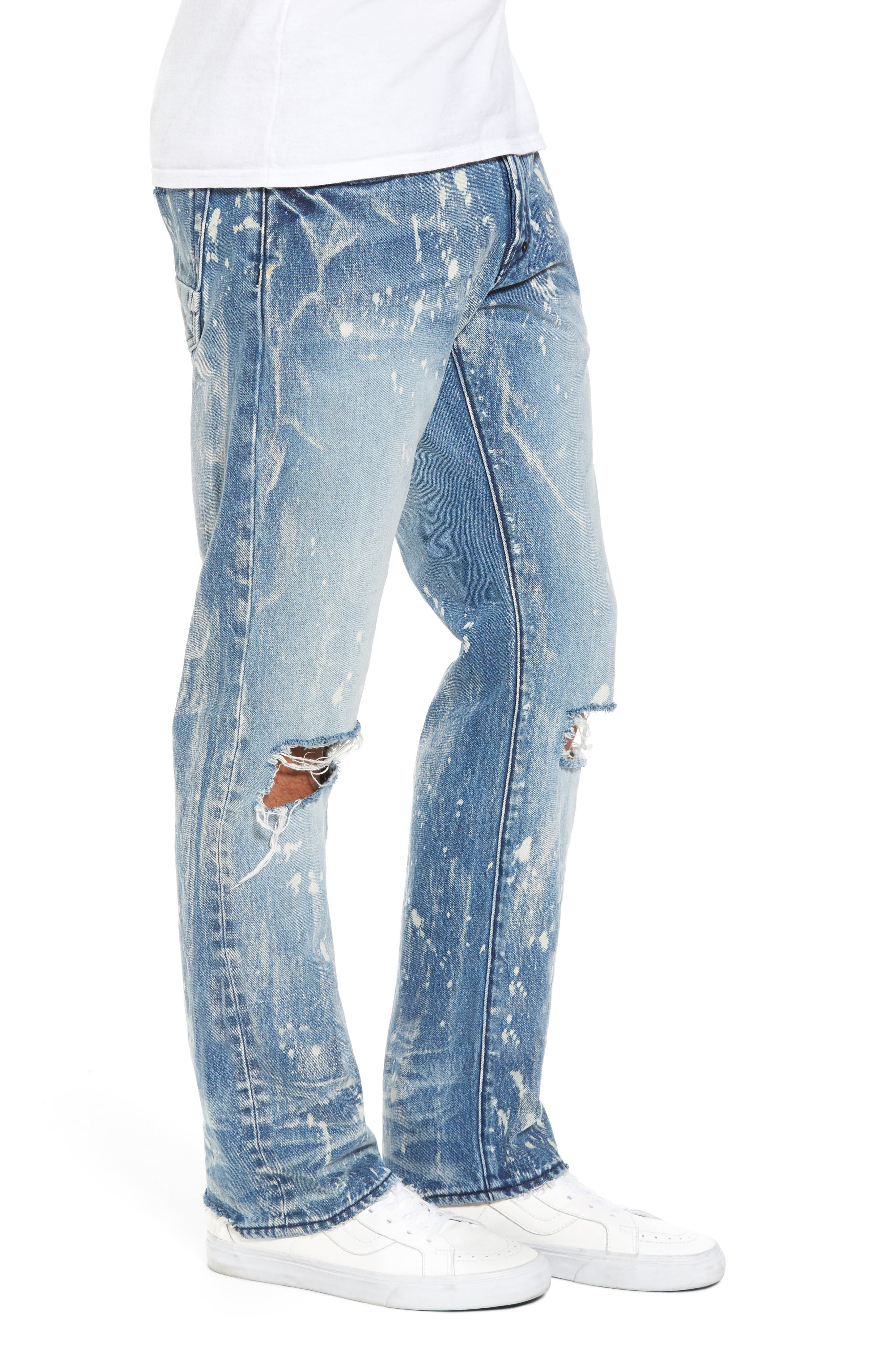 Alternate Image 3  - PRPS Demon Slim Straight Leg Jeans (Indigoblue)