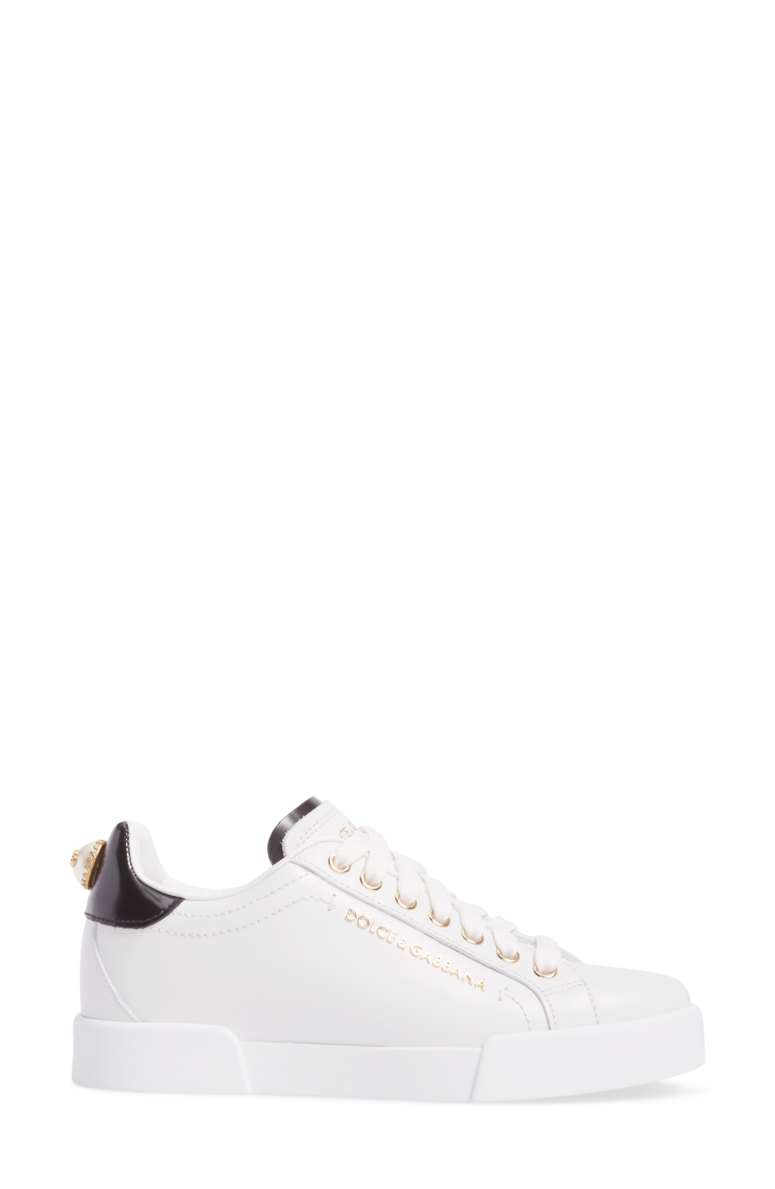 Alternate Image 3  - Dolce&Gabbana Logo Embellished Sneaker (Women)