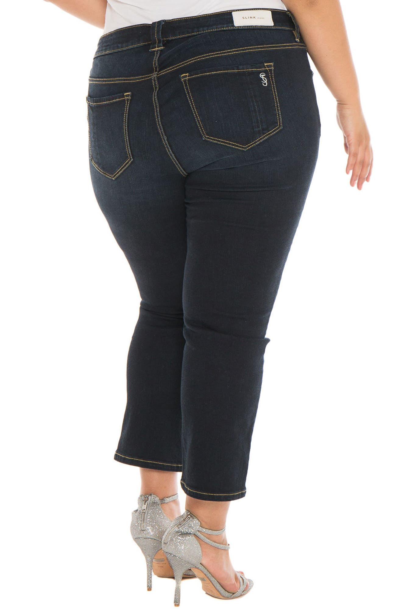 Alternate Image 3  - SLINK Jeans Straight Leg Jeans (Summer) (Plus Size)