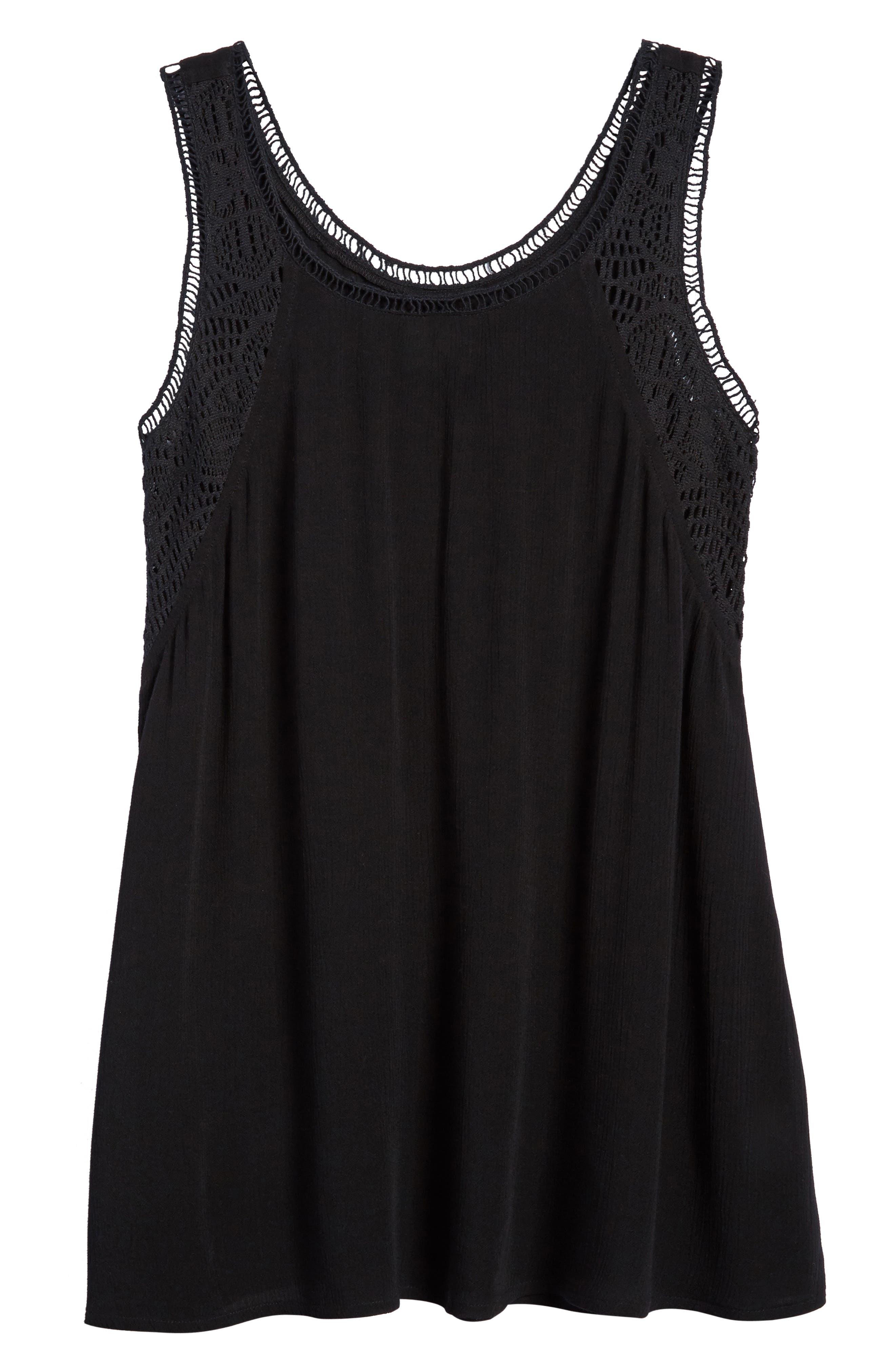 Addilyn Crochet Cover-Up Dress,                         Main,                         color, Black - Blk