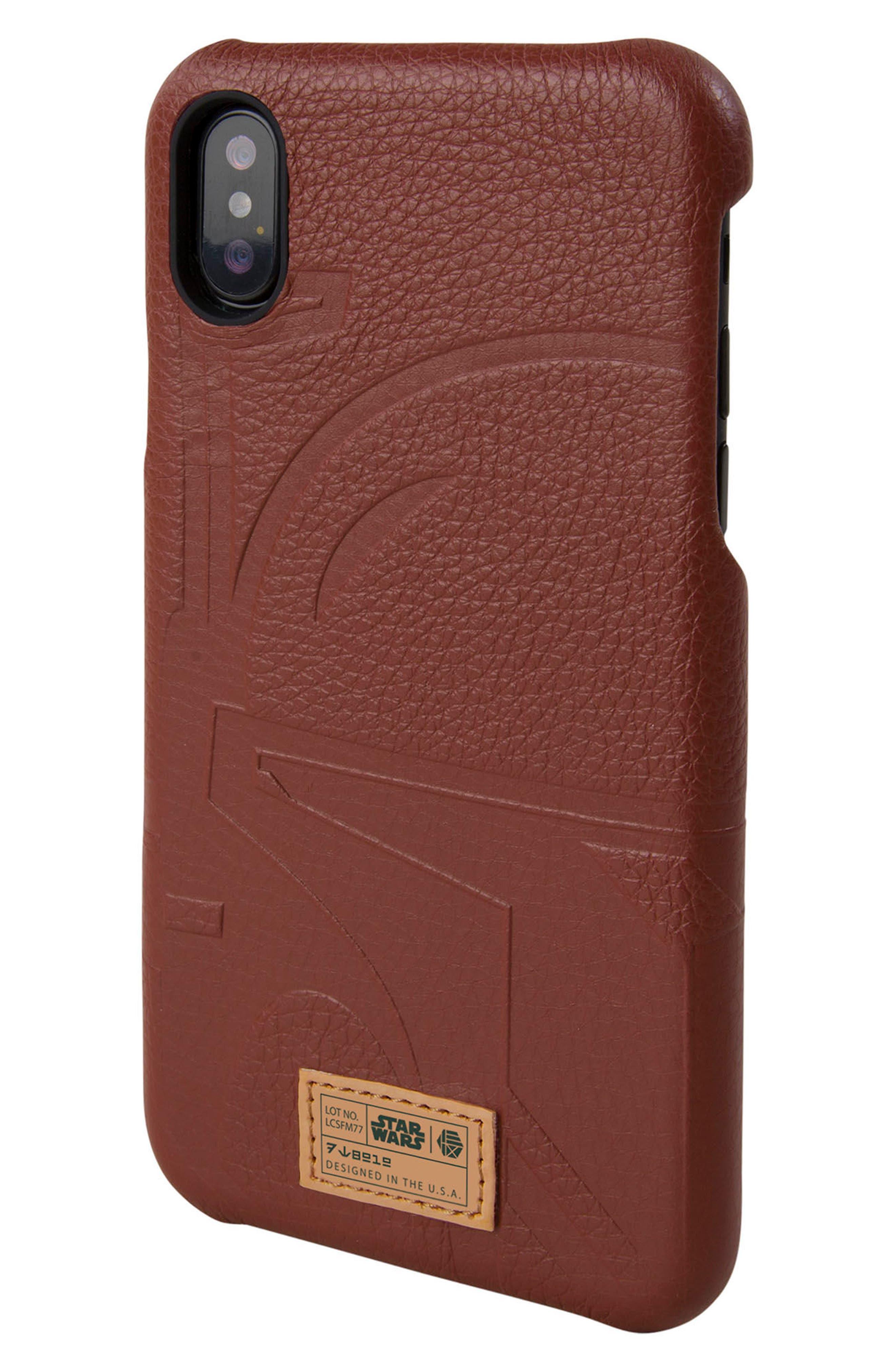 Boba Fett iPhone X Case,                         Main,                         color, Burgundy