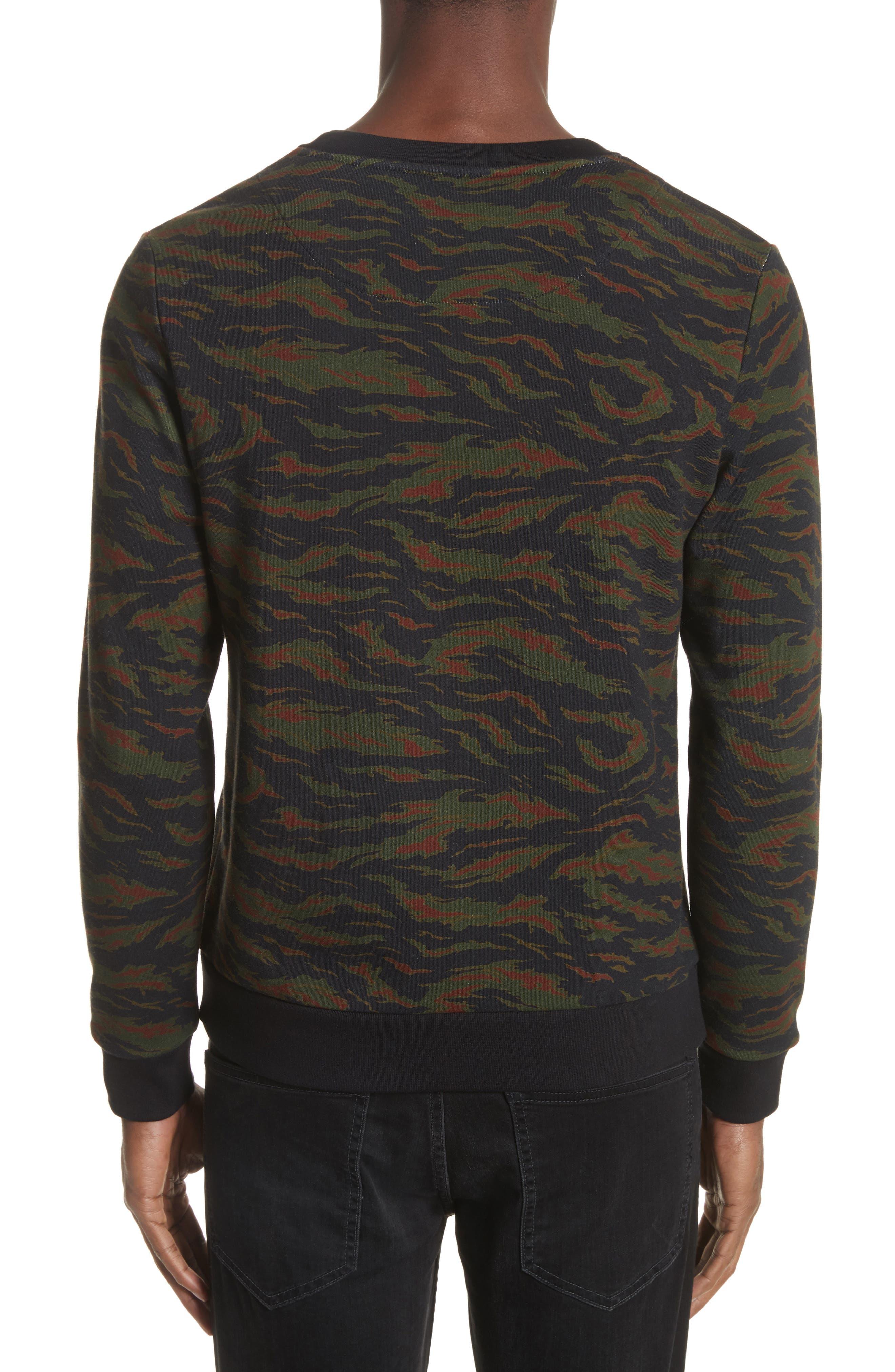 Camo Sweater,                             Alternate thumbnail 2, color,                             Khaki