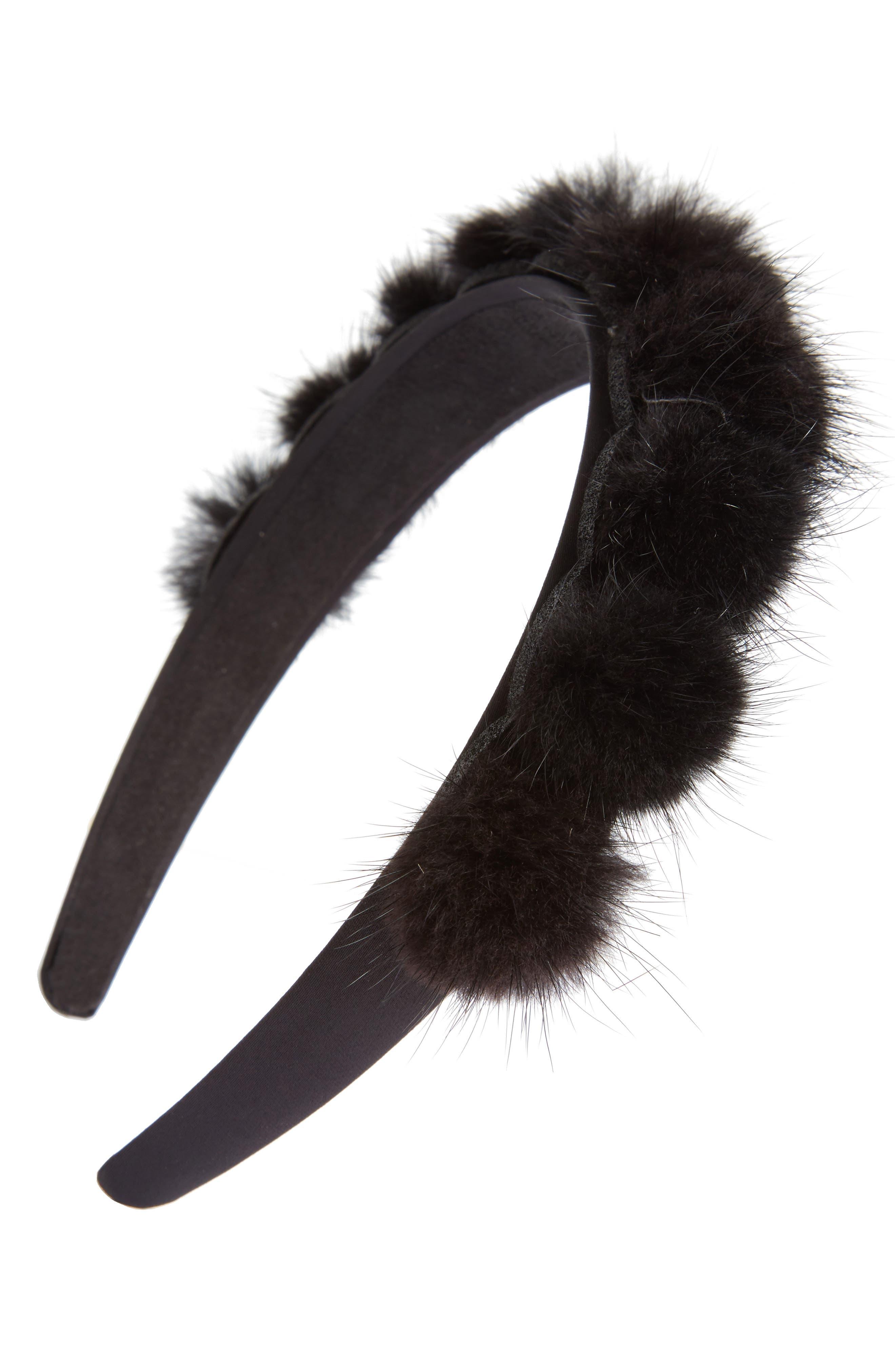 Tasha Genuine Mink Pom Headband