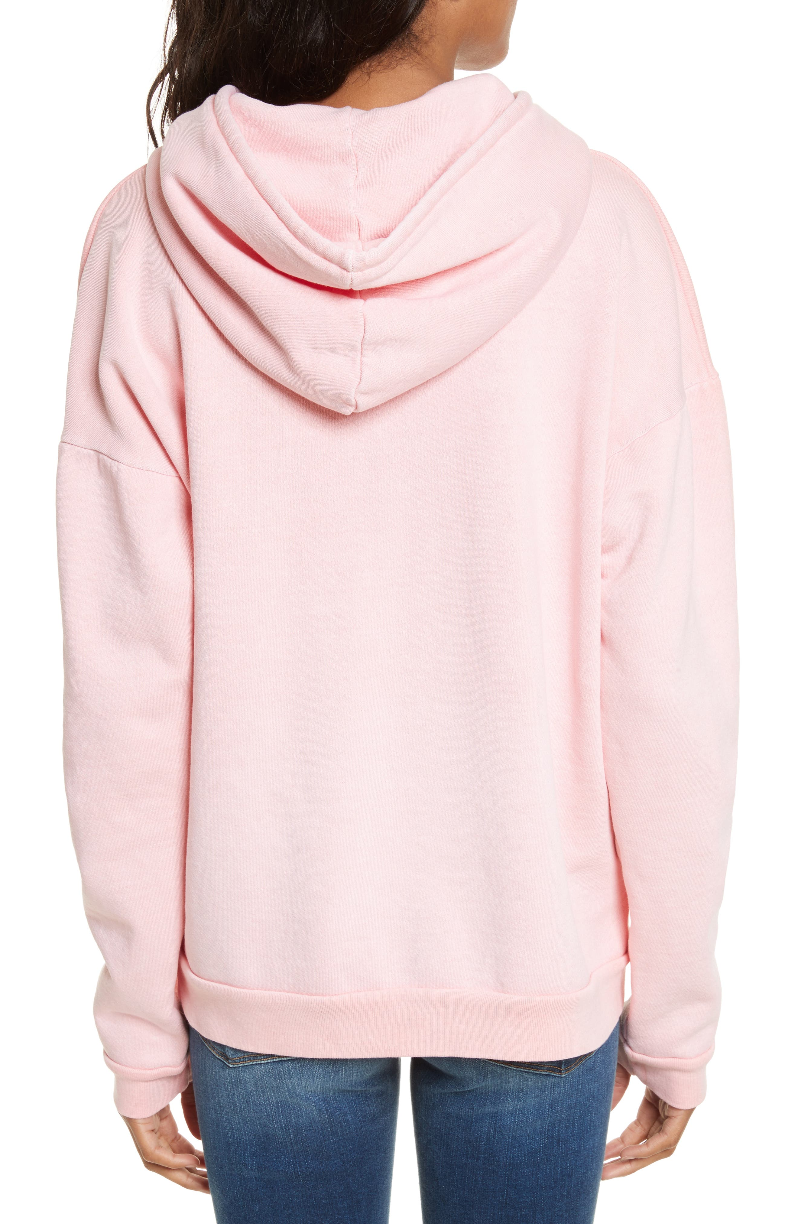 Oversize Hoodie,                             Alternate thumbnail 2, color,                             Faded Light Pink