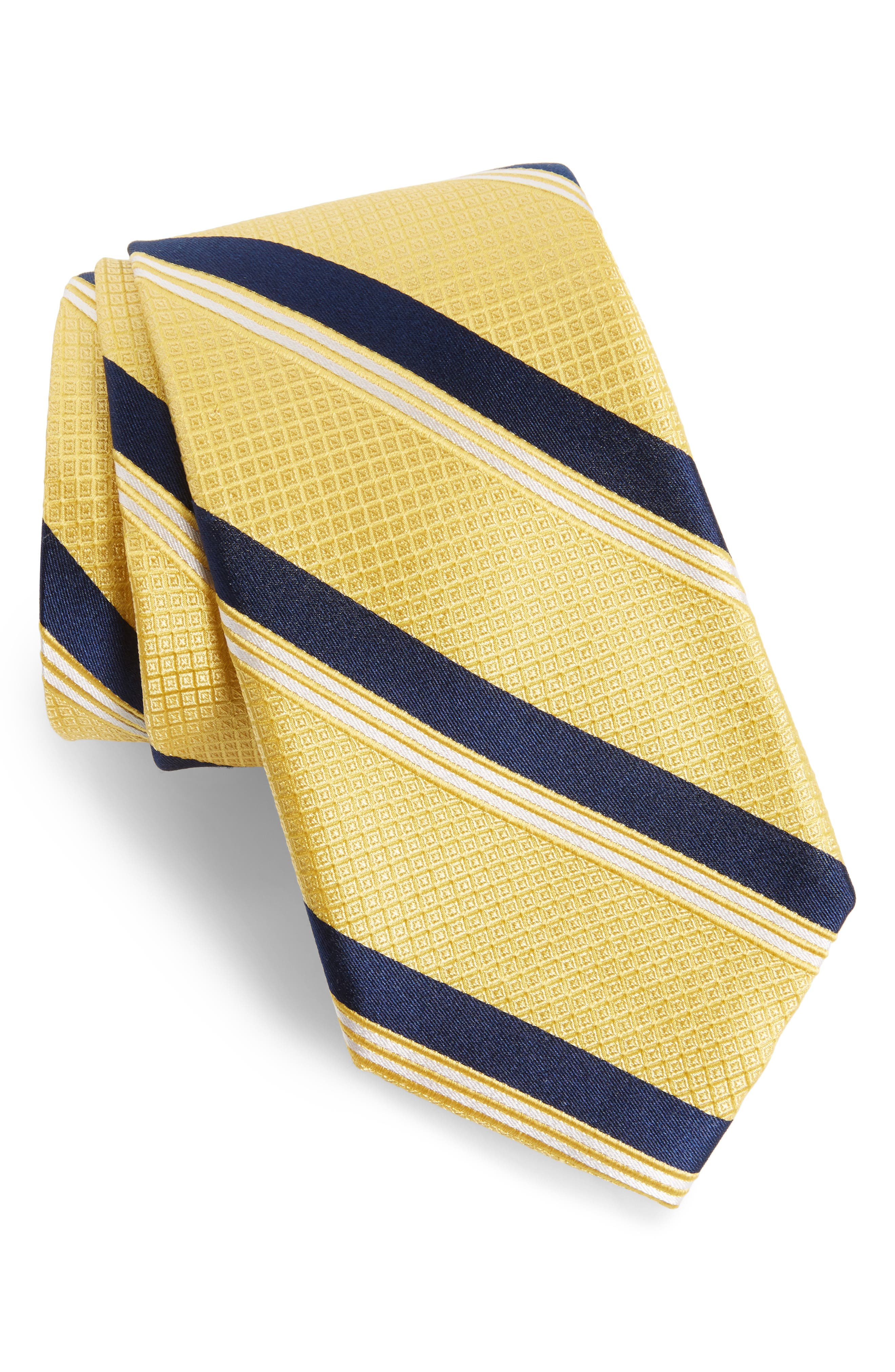 Nordstrom Men's Shop Stripe Silk Tie (X-Long)