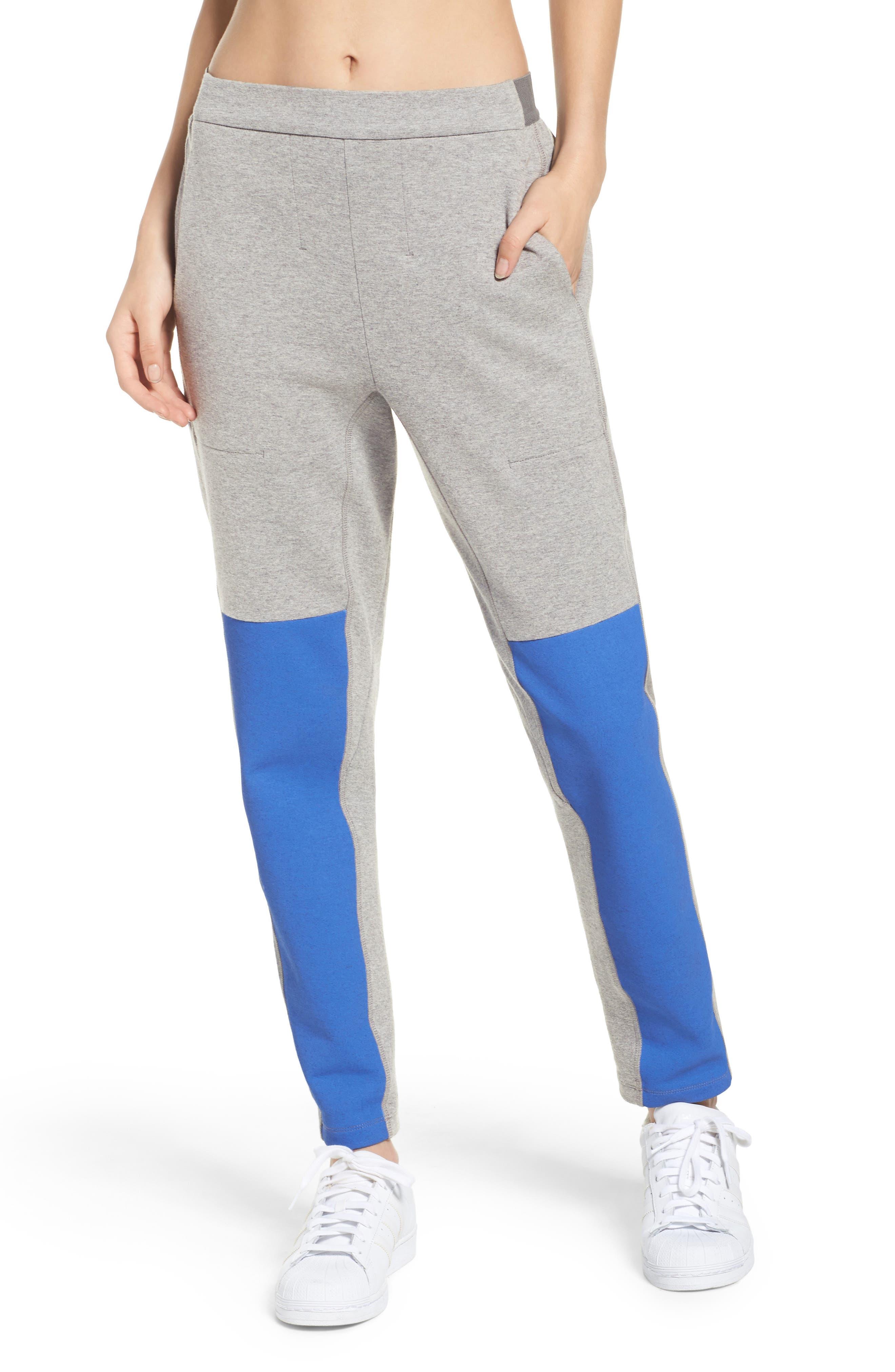 Blixen Track Pants,                         Main,                         color, Grey Marl